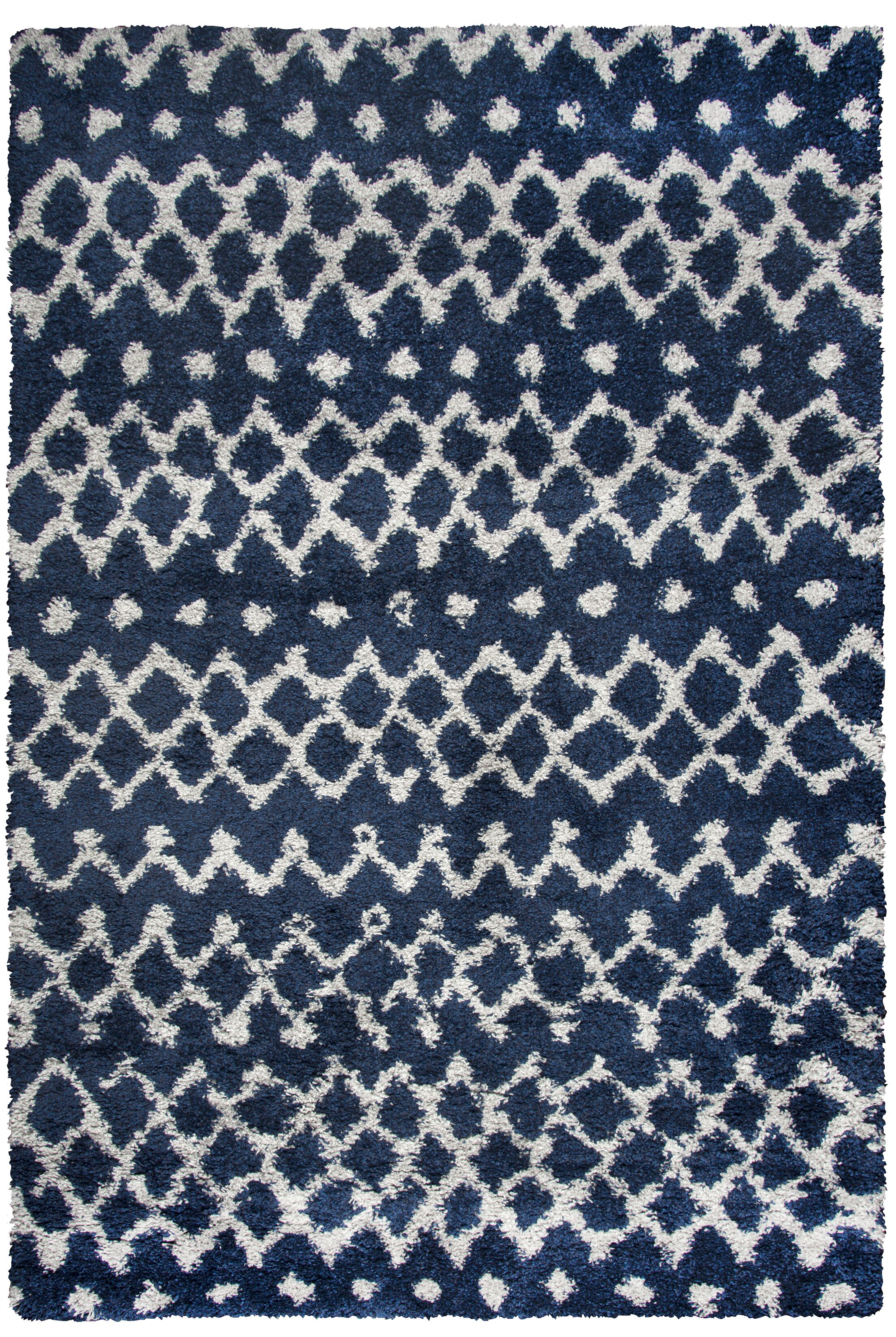 Matias Blue Shag Area Rug Rug Size: Rectangle 7'10