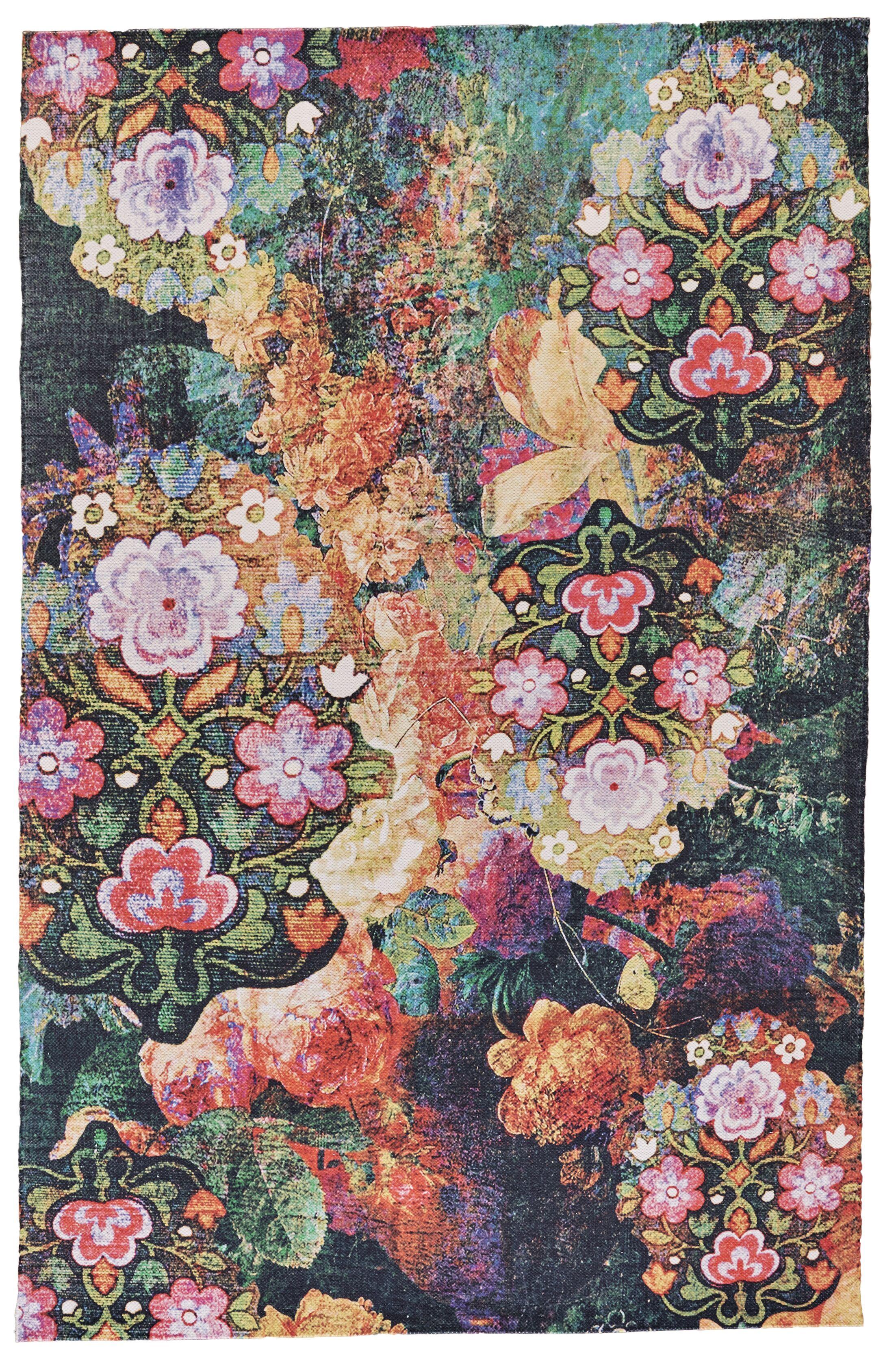 Arla Hand Woven Orange/Pink Indoor/Outdoor Area Rug Rug Size: Rectangle 4' x 6'