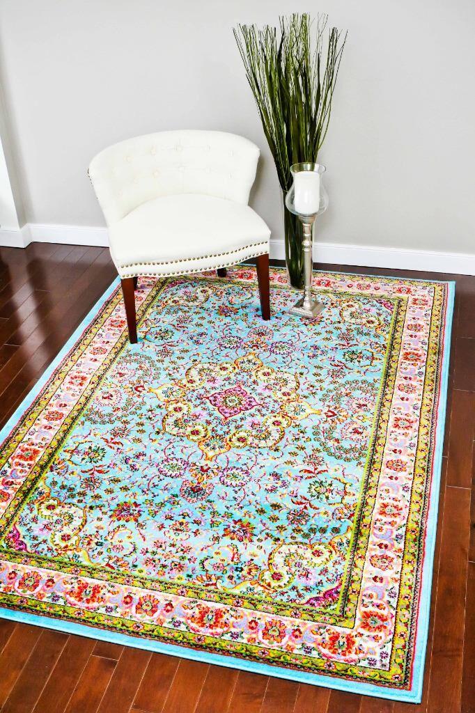 Thornton Blue Indoor Area Rug Rug Size: 6' x 9'