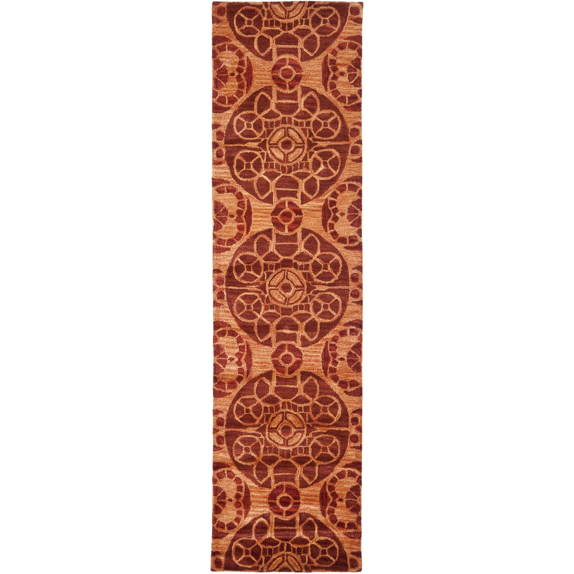 Kouerga Hand-Tufted/Hand-Hooked Rust/Orange Area Rug Rug Size: Runner 2'3