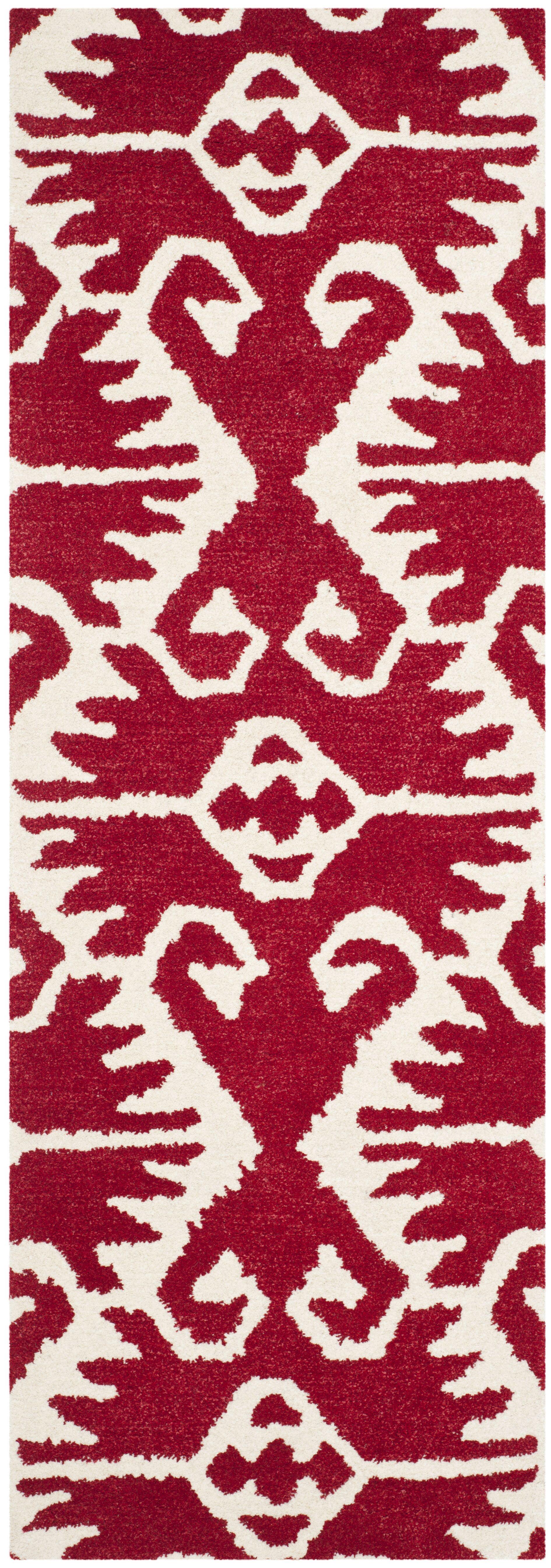 Kouerga Red Area Rug Rug Size: Runner 2'3