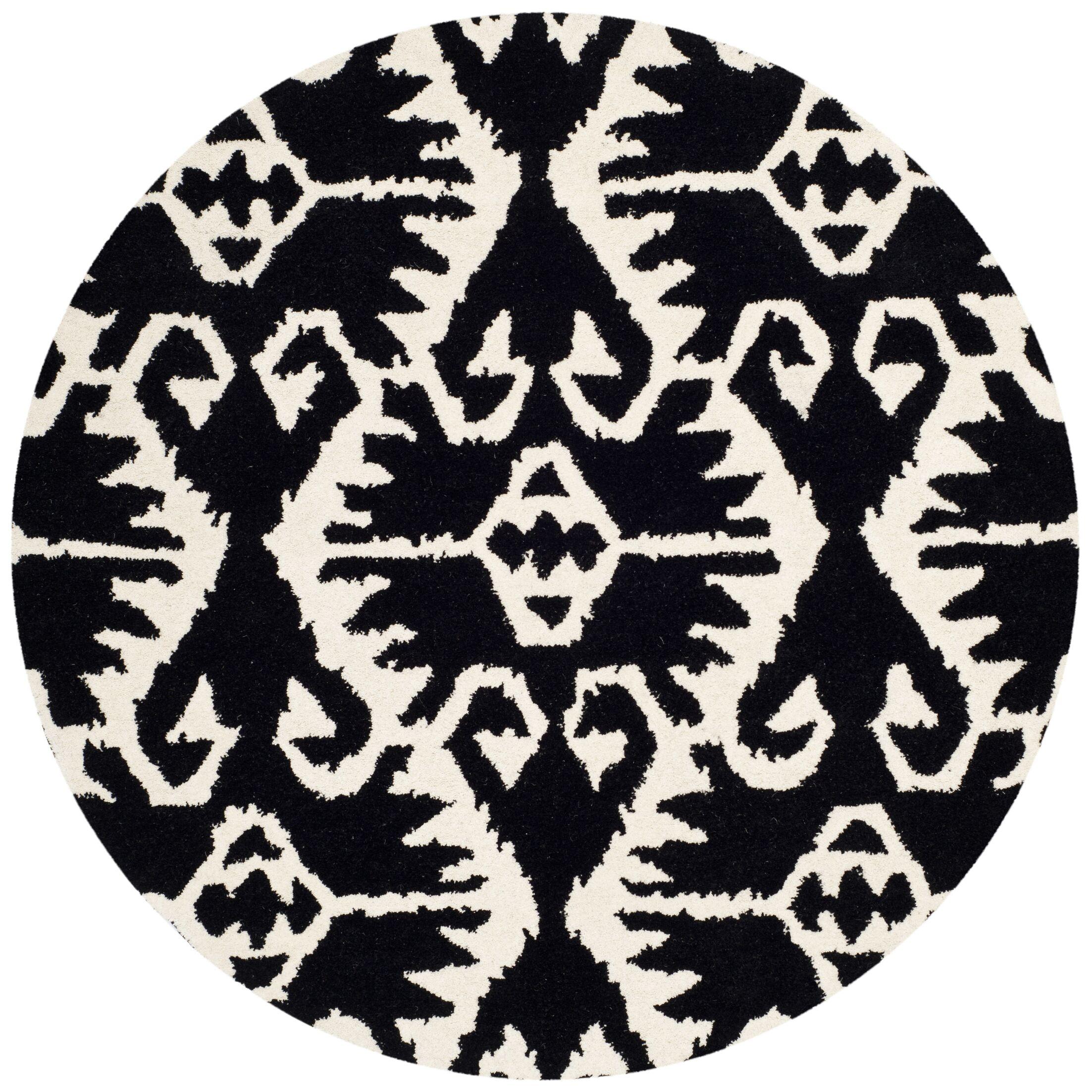 Kouerga Black & Ivory Area Rug Rug Size: Rectangle 3' x 5'
