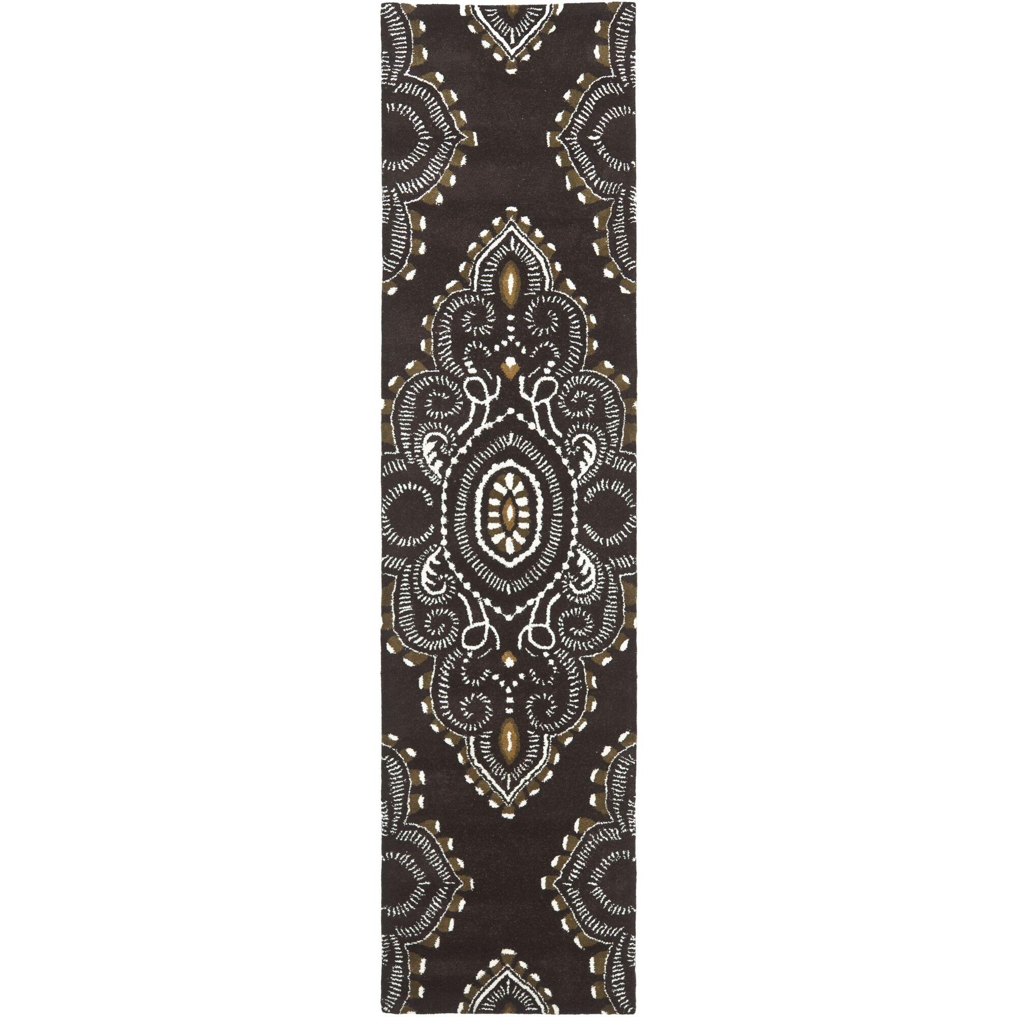 Kouerga Brown / Ivory Rug Rug Size: Rectangle 8' x 10'