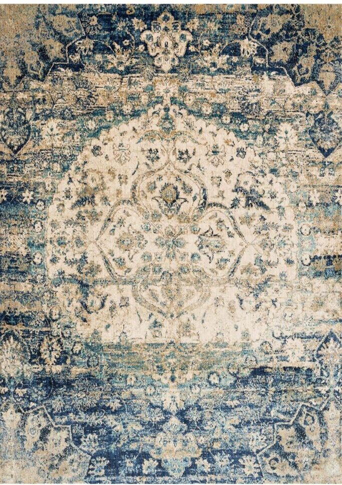 Potter Beige/Blue Area Rug Rug Size: Runner 2'7