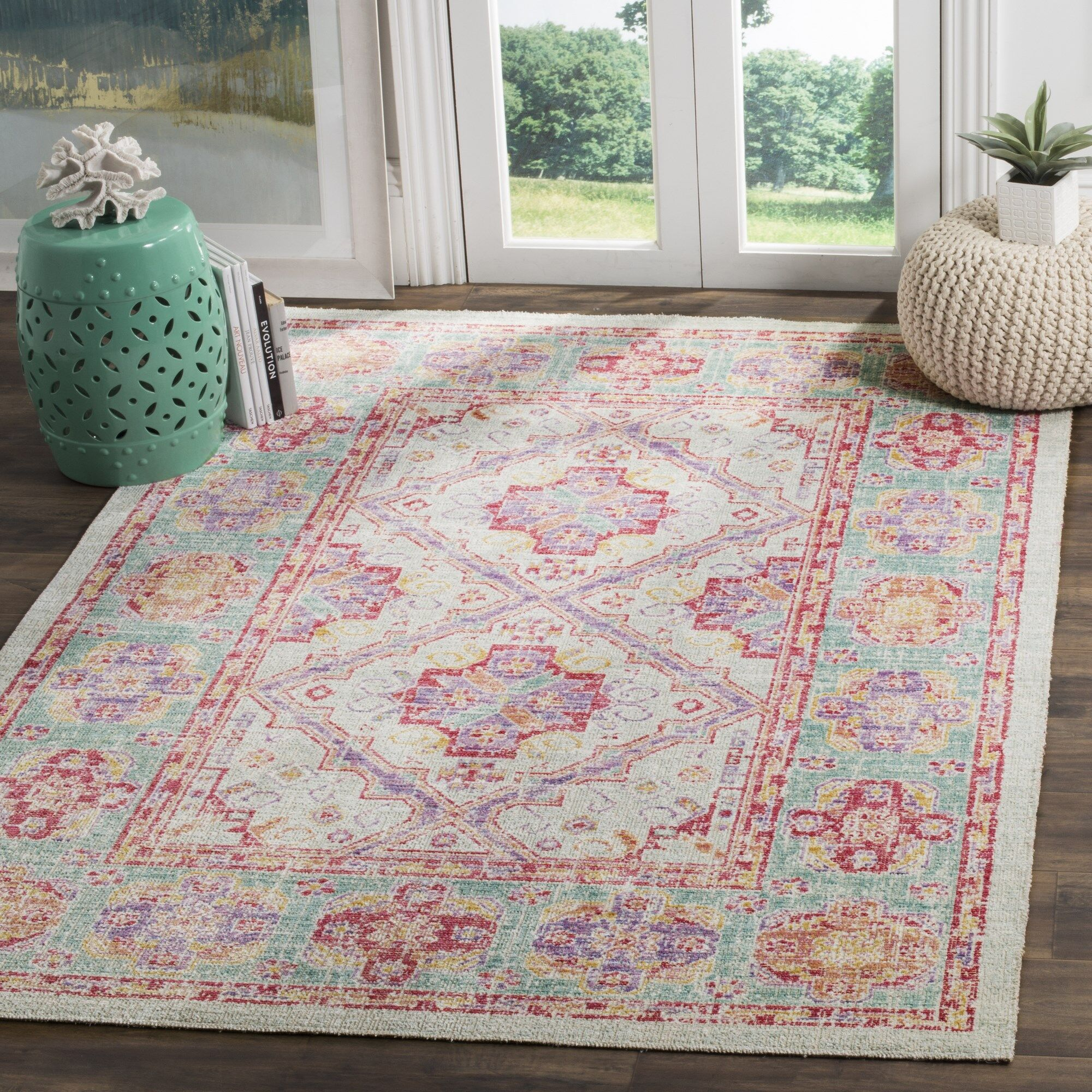 Bangou Spa/Fuchsia Area Rug Rug Size: Rectangle 4' x 6'