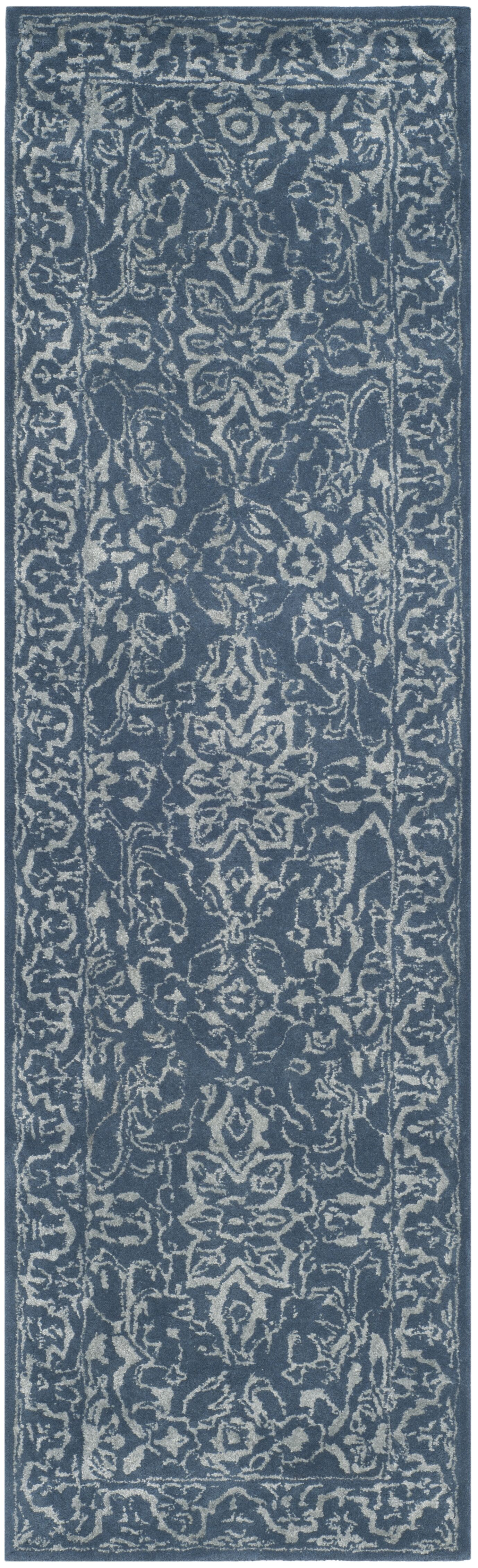 Wilkins Hand-Tufted Gray/Blue Area Rug Rug Size: Runner 2'3