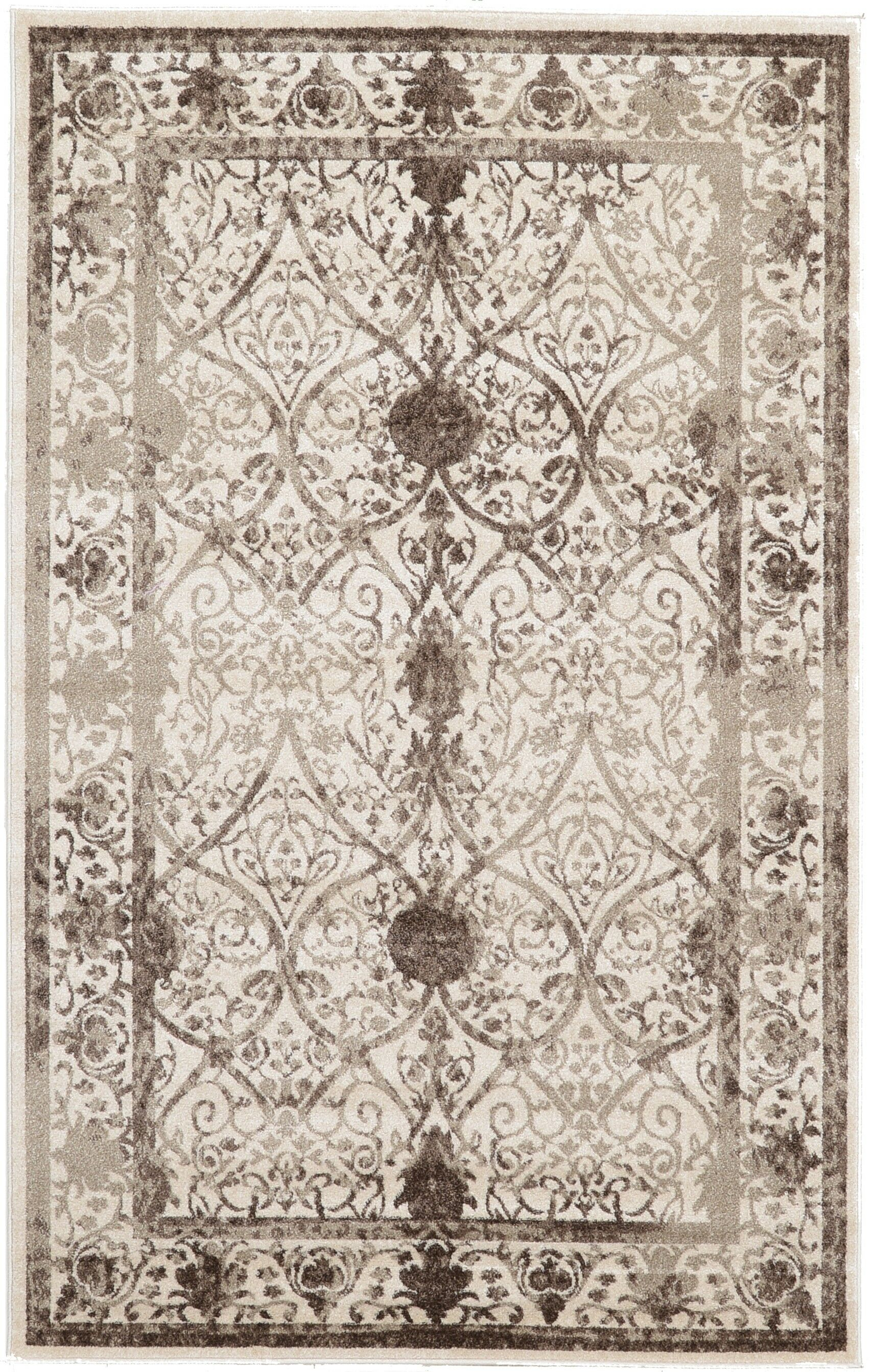 Shailene Power Loom Beige/Brown Indoor Area Rug Rug Size: Rectangle 5' x 8'