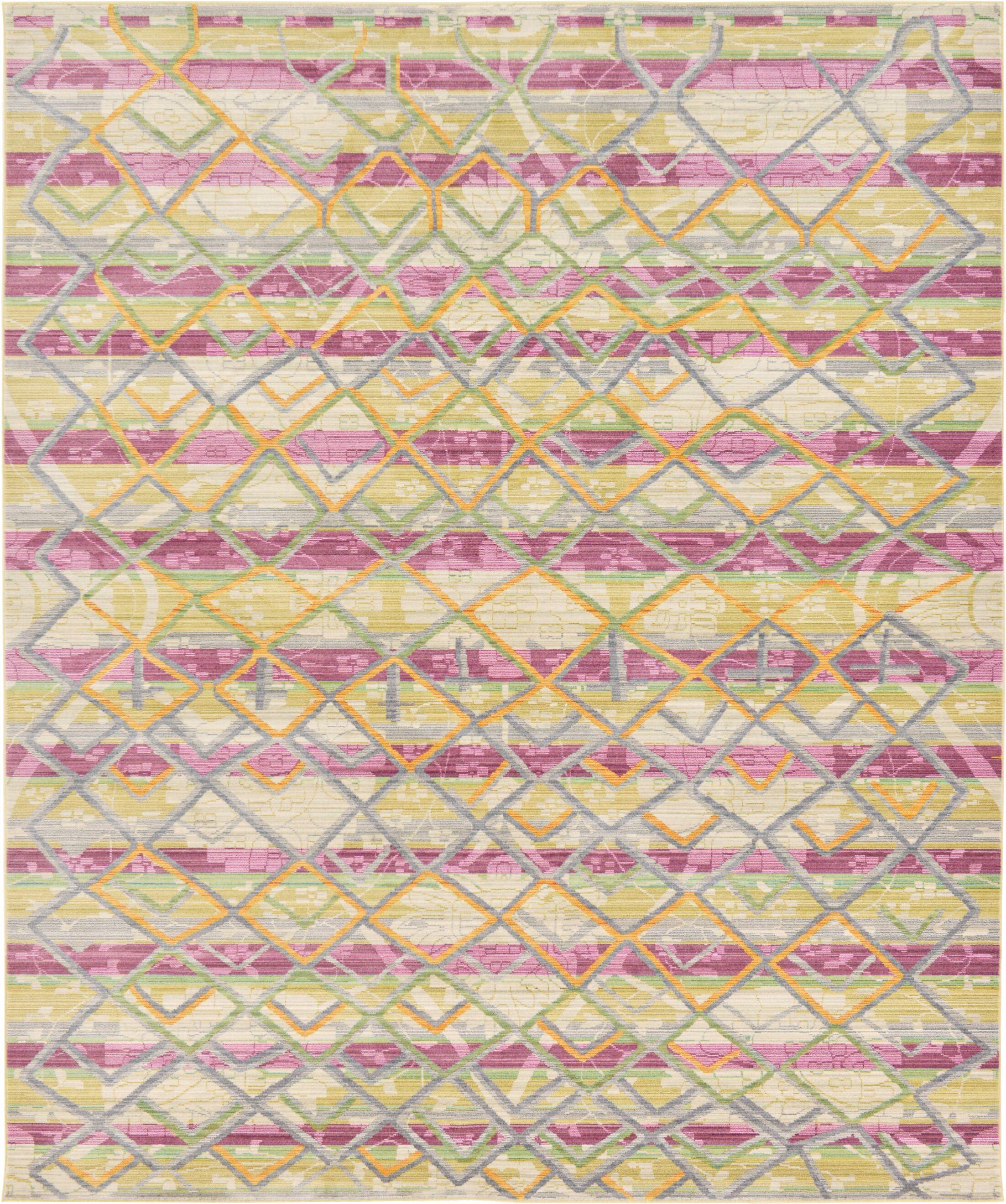 Rune Beige Area Rug Rug Size: Rectangle 8' x 10'