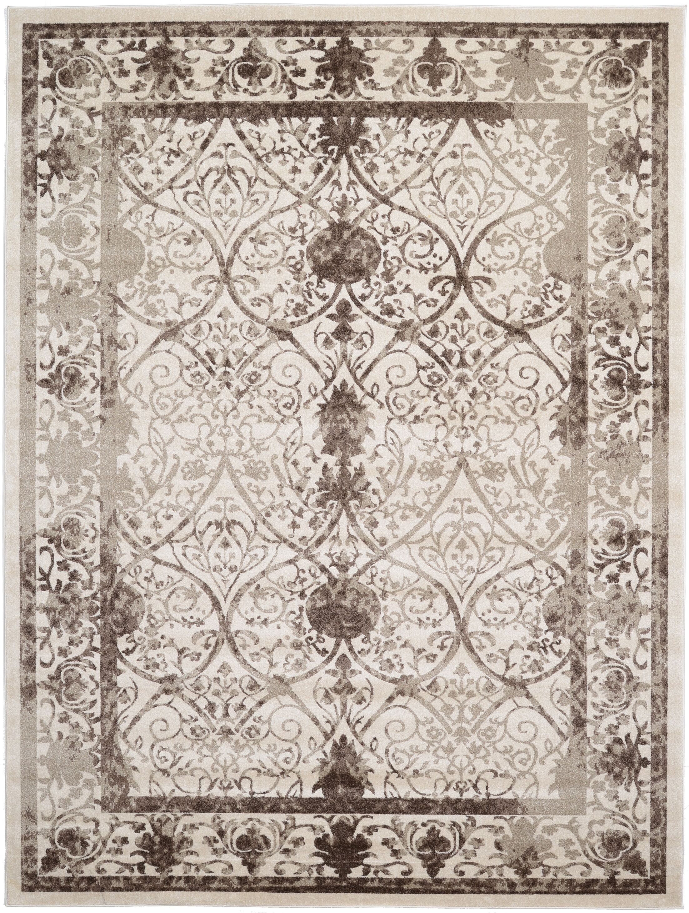Shailene Power Loom Beige/Brown Indoor Area Rug Rug Size: Rectangle 9' x 12'
