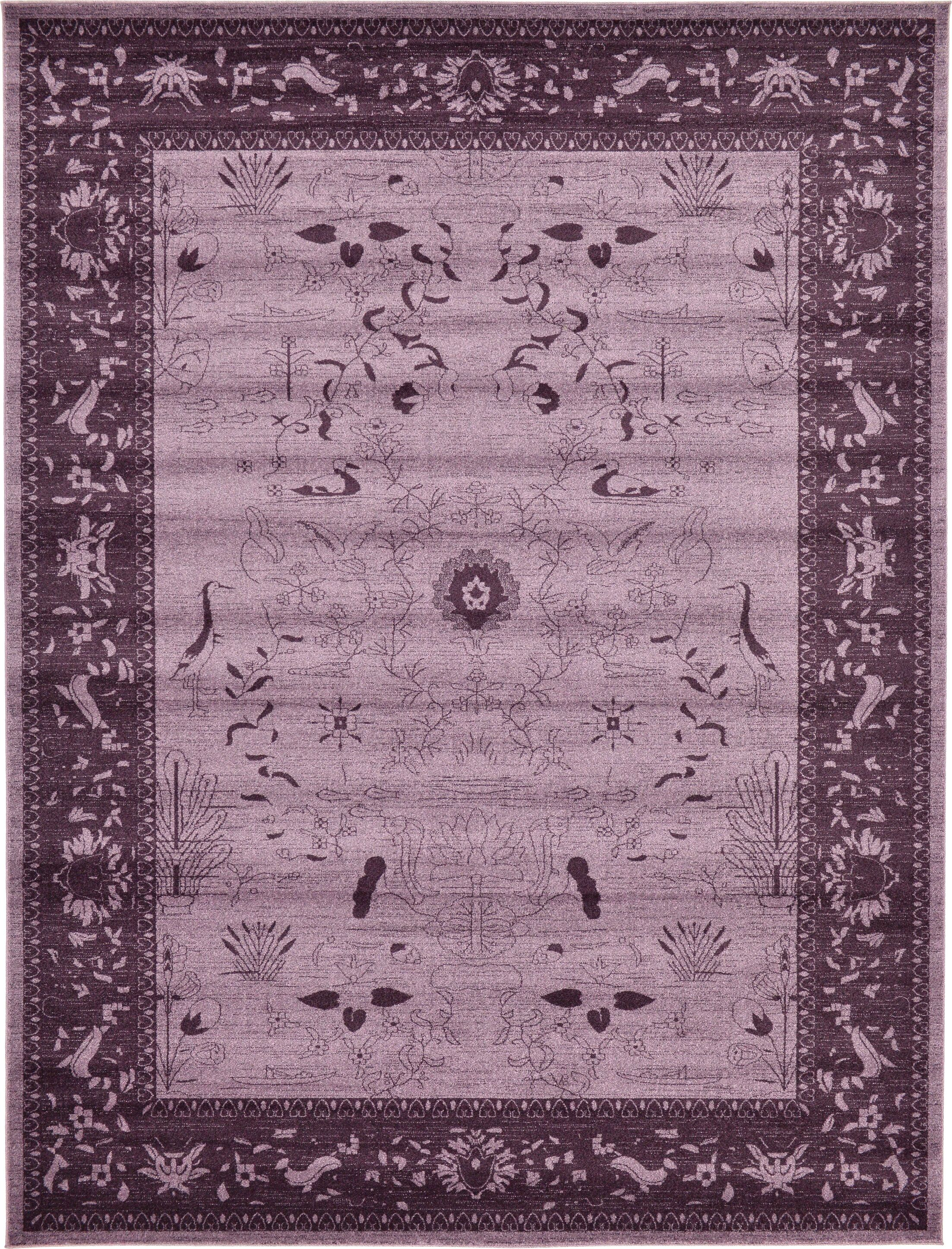 Shailene Purple Area Rug Rug Size: Rectangle 10' x 13'