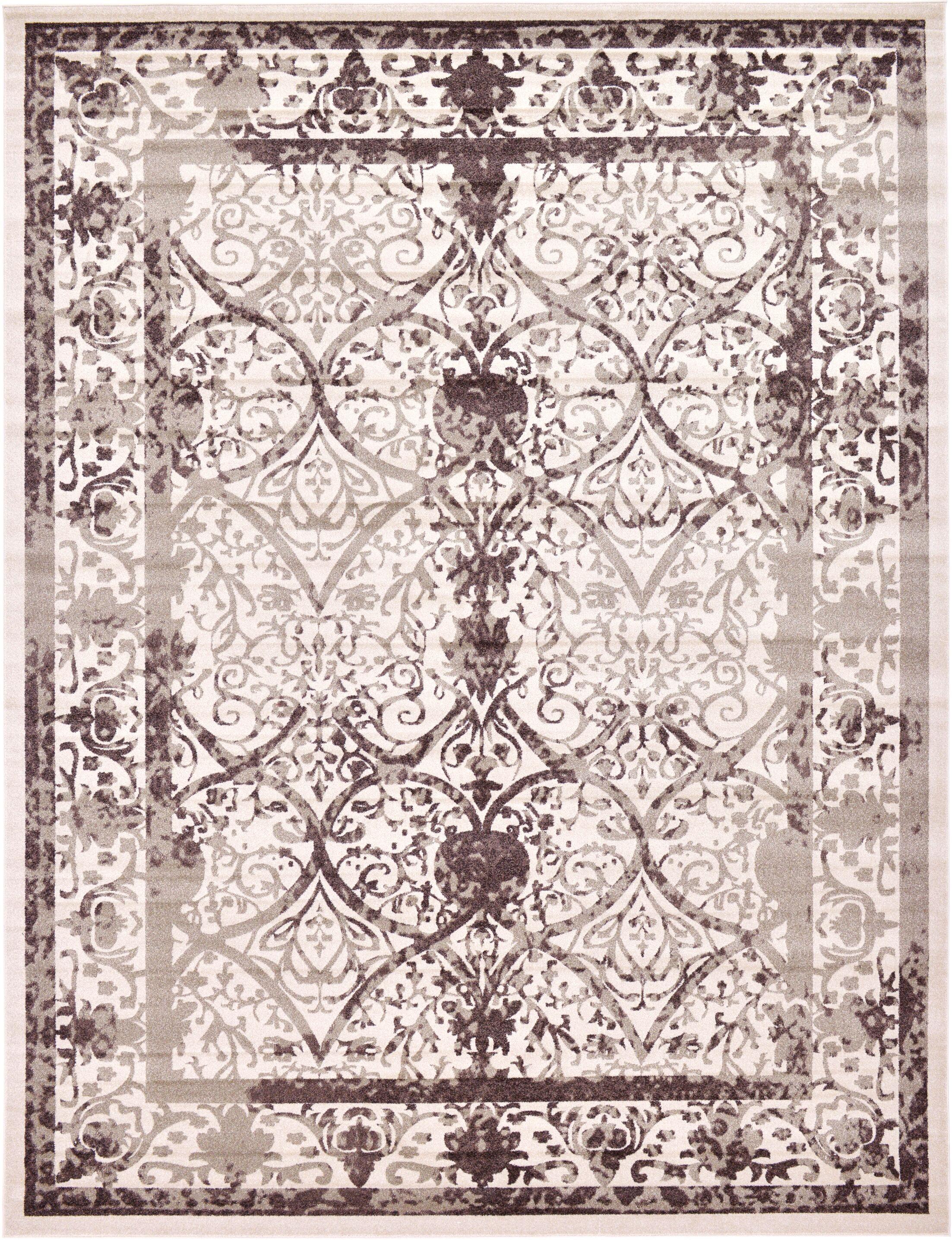 Shailene Power Loom Beige/Brown Indoor Area Rug Rug Size: Rectangle 12'2