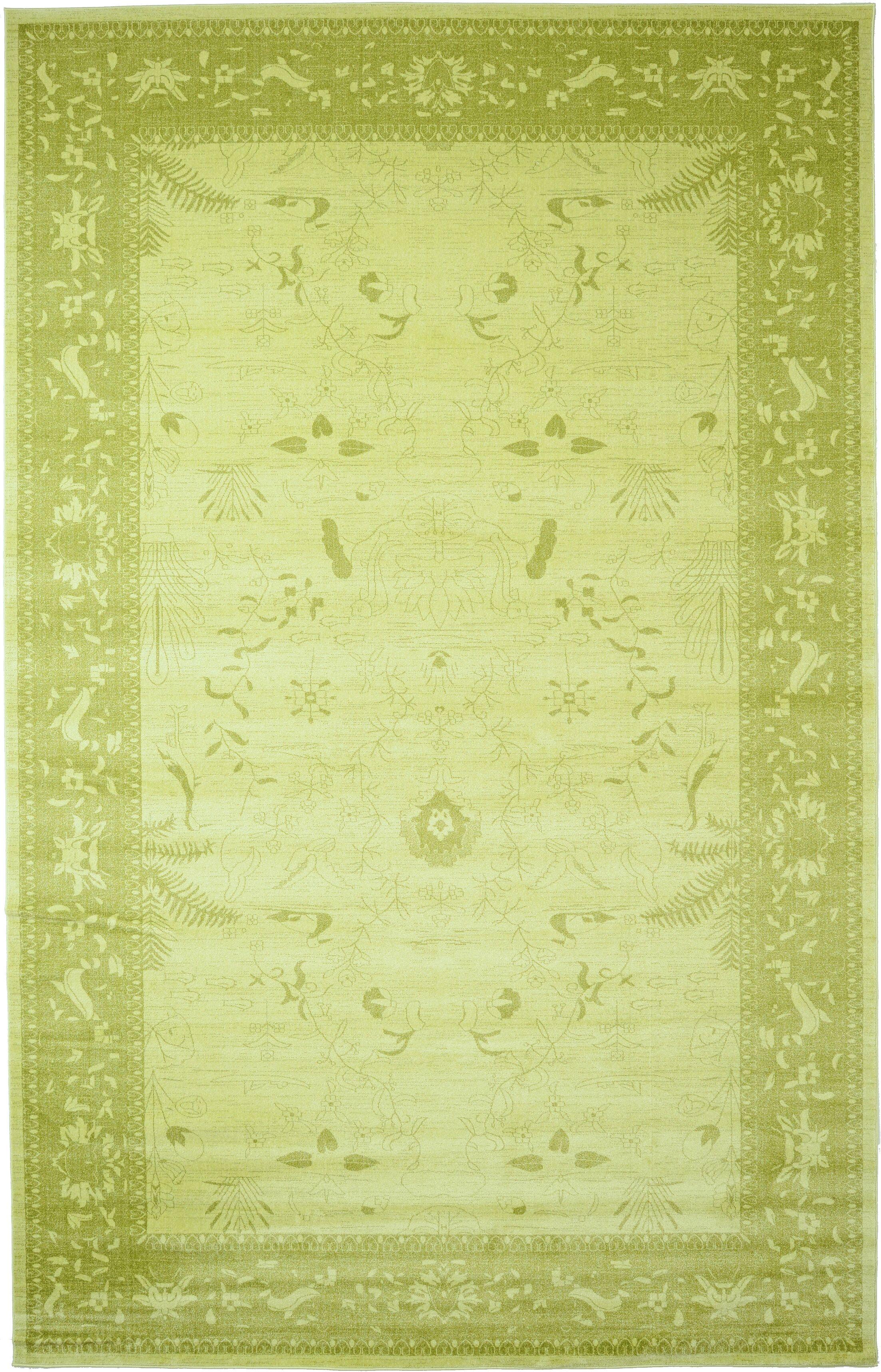 Shailene Light Green Area Rug Rug Size: Rectangle 10'6