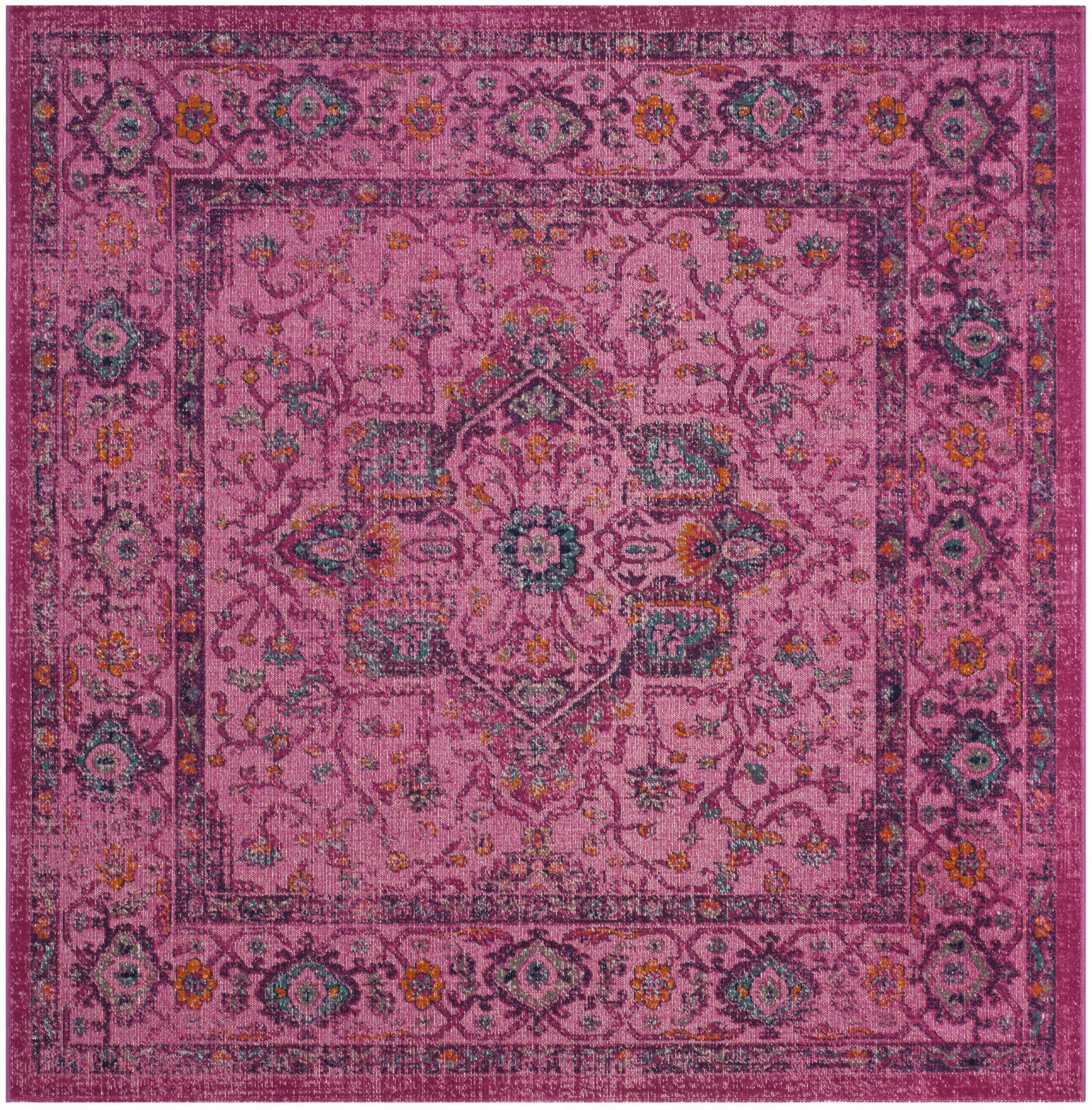 Bunn Fuchsia Area Rug Rug Size: Square 6'7