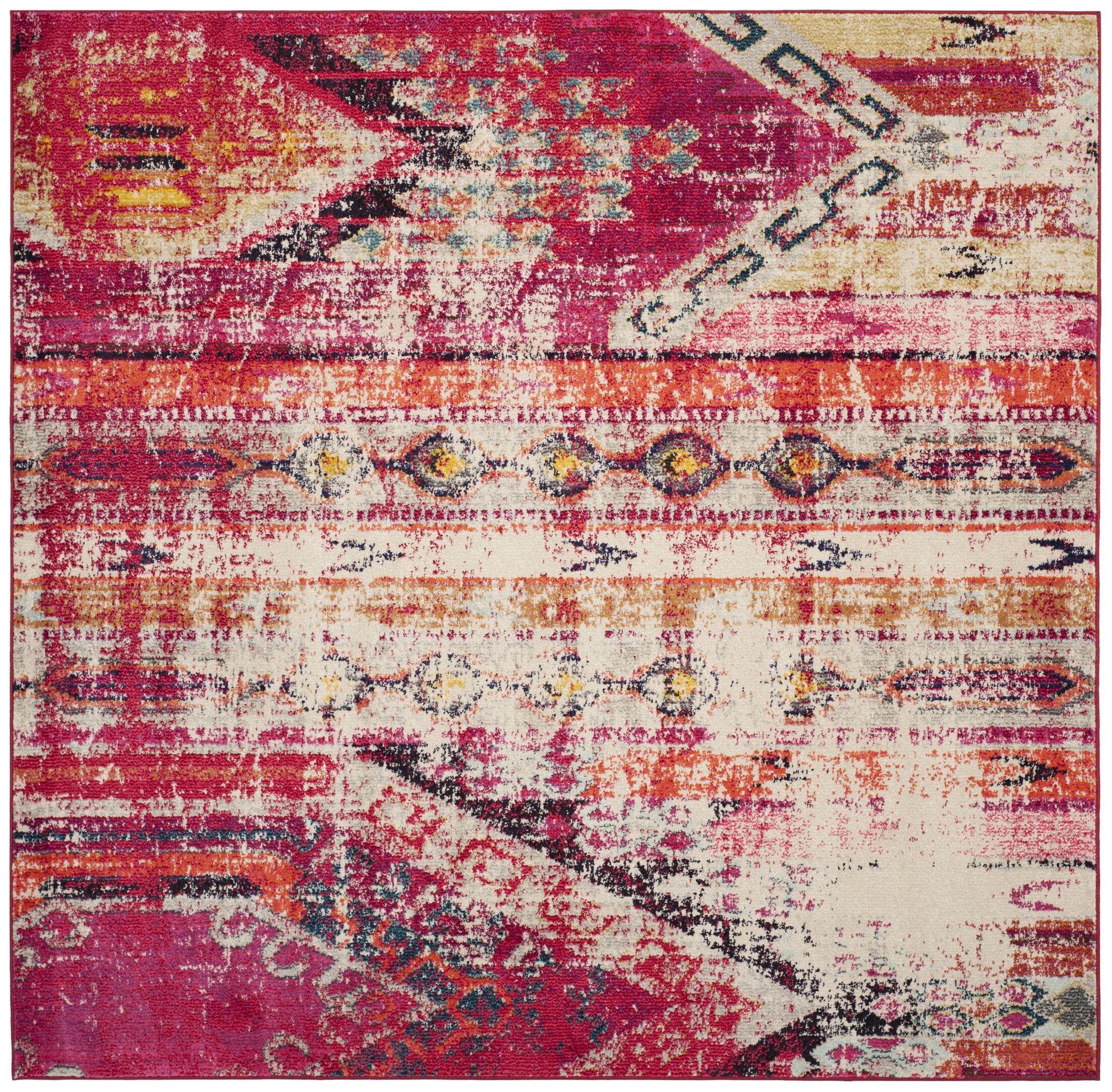 Alfred Tibetan Pink Area Rug Rug Size: Square 6'7
