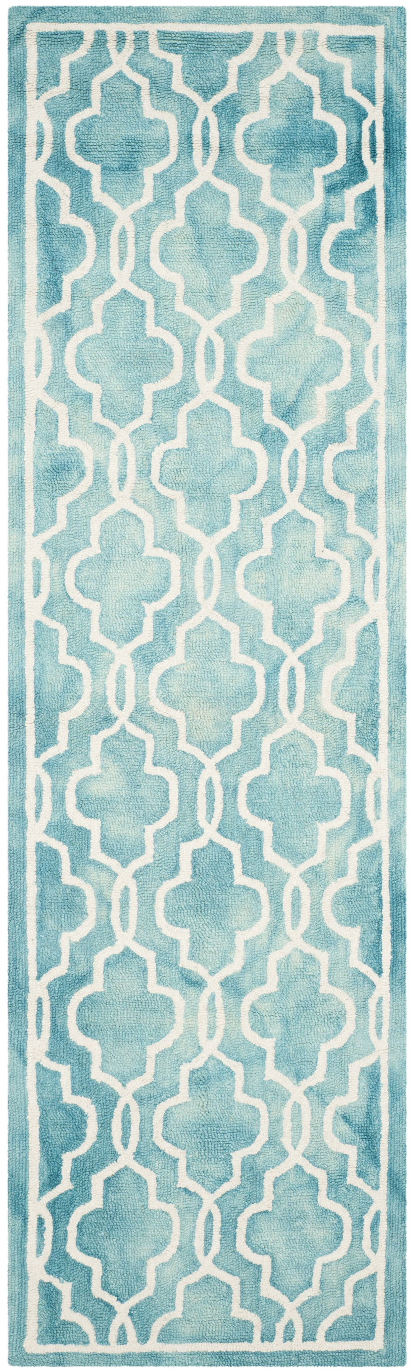 Gainsborough Hand-Tufted Turquoise/Ivory Area Rug Rug Size: Runner 2'3