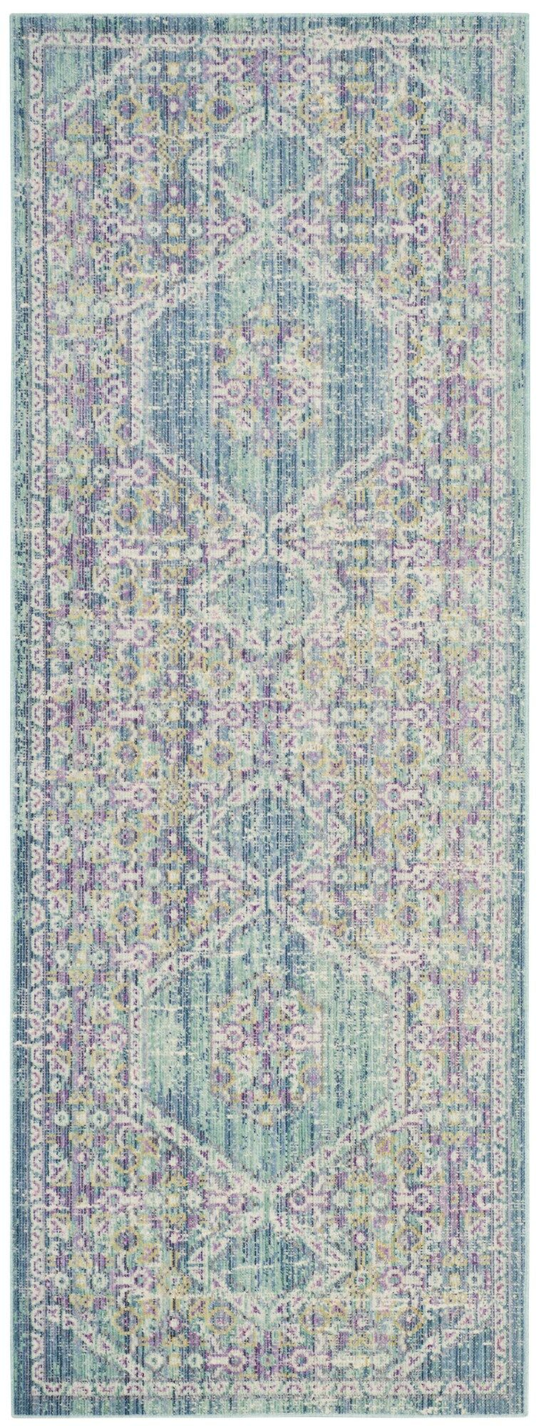 Bangou Blue/Purple Area Rug Rug Size: Runner 3' x 10'