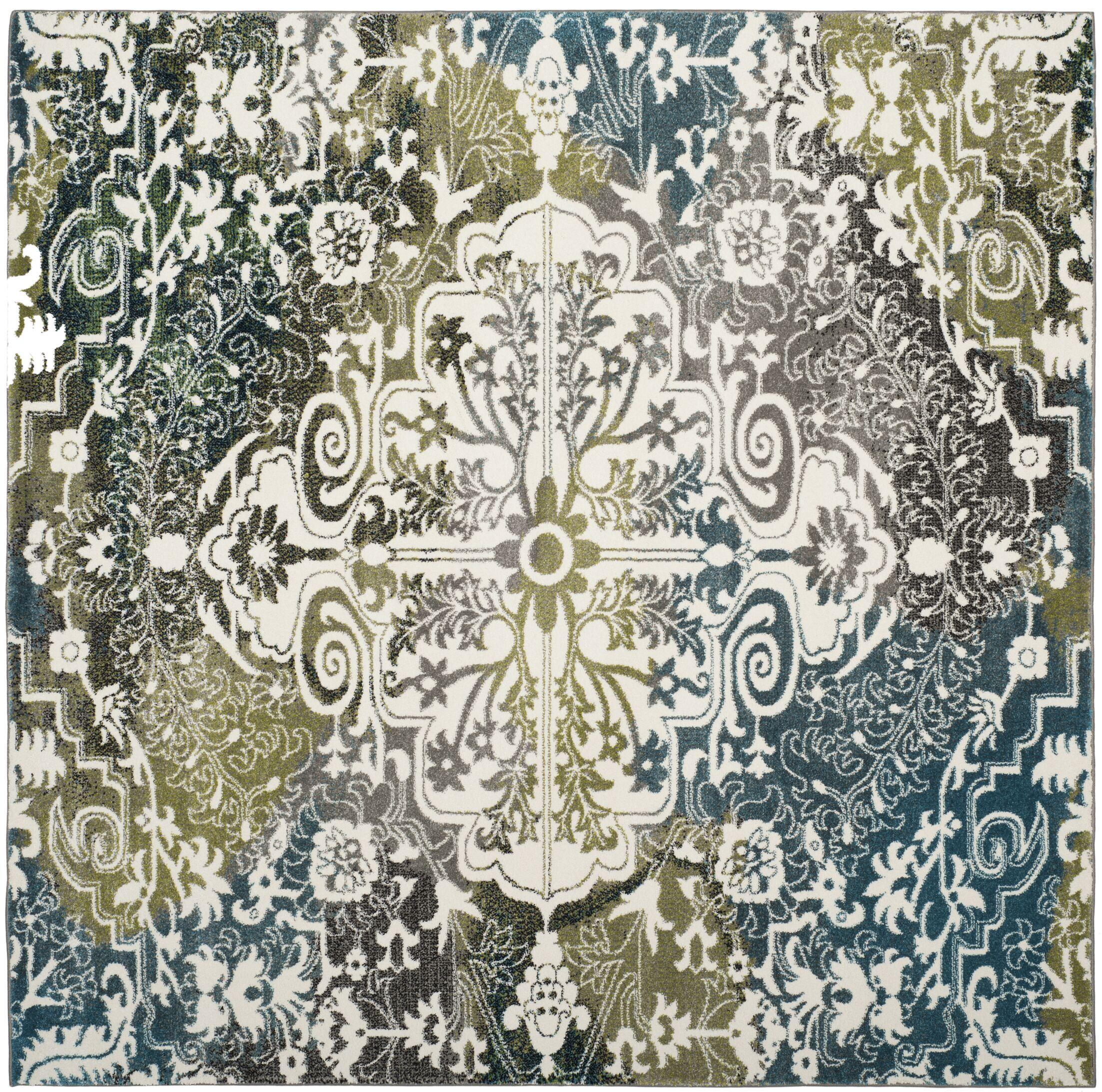 Sharmila Beige/Green Area Rug Rug Size: Square 6'7