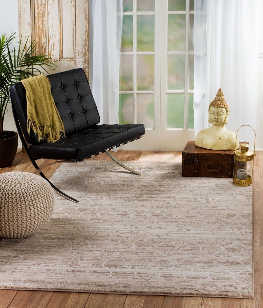 Gregory Glamour Taupe Area Rug Rug Size: 8' x 10' 6