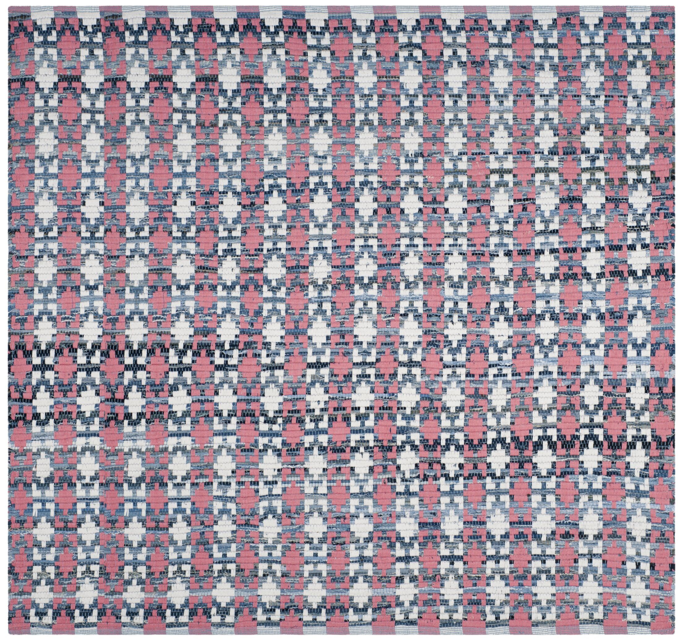 Saleem Hand-Woven Coral Area Rug Rug Size: Square 6'