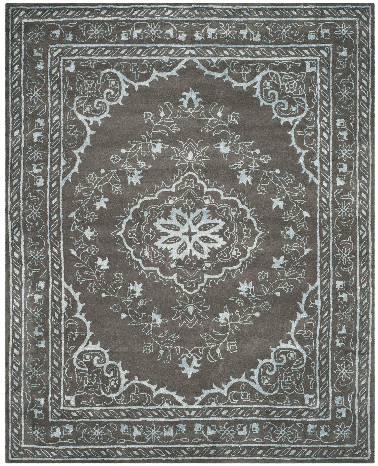 Samaniego Hand-Tufted Dark Gray Area Rug Rug Size: Rectangle 8' x 10'