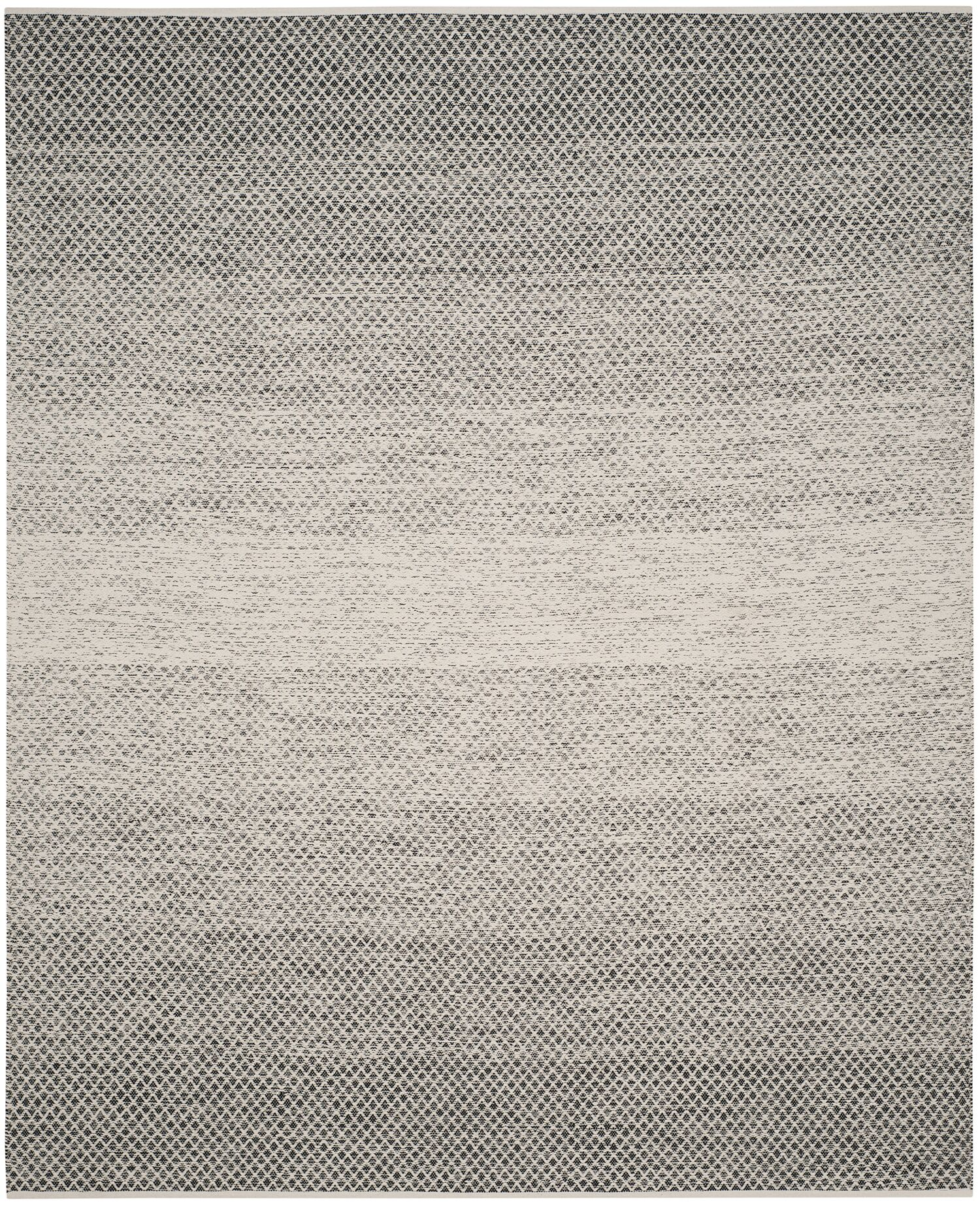 Figuig Hand-Woven Black/Ivory Area Rug Rug Size: Square 6'