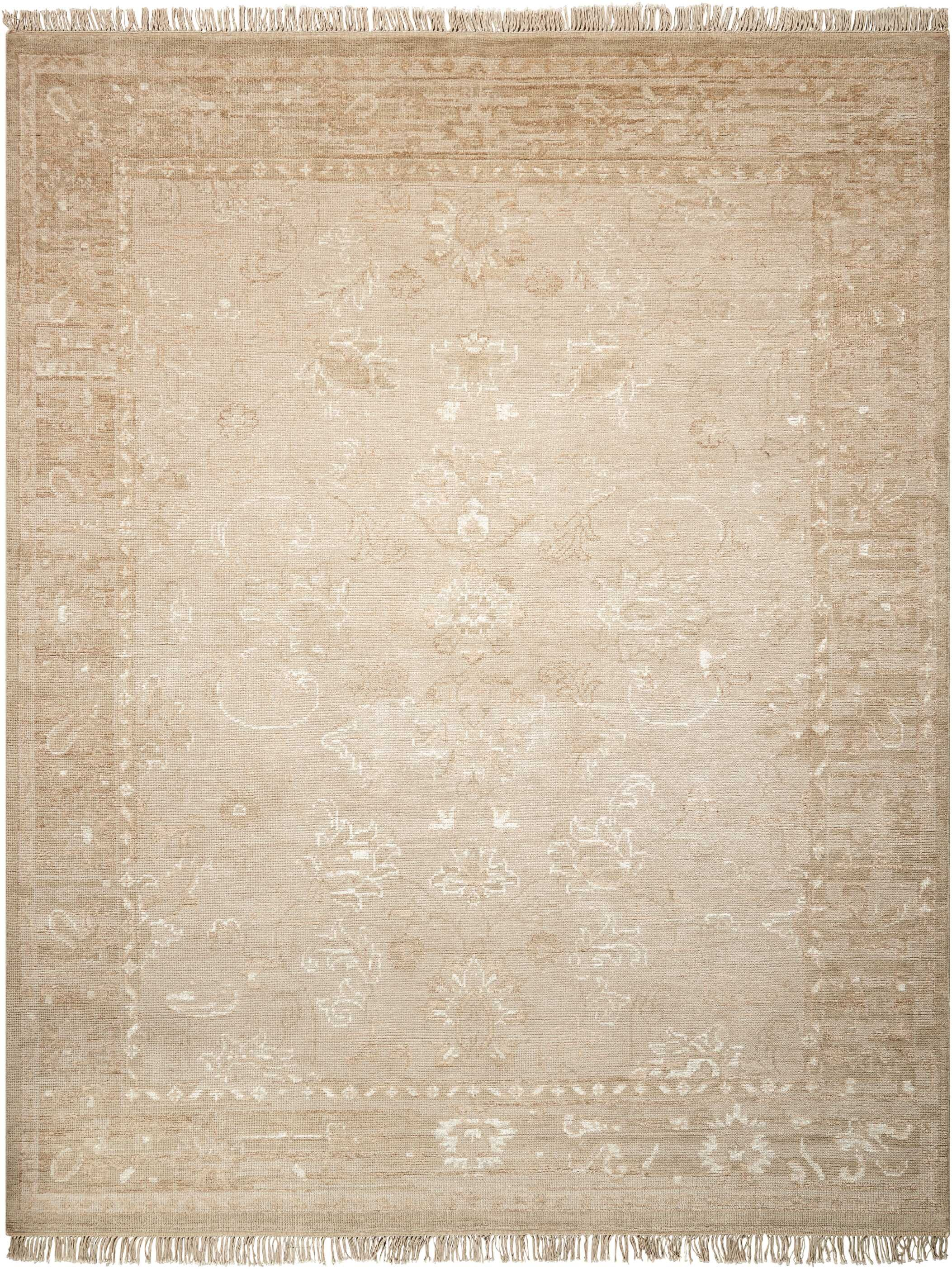 Haddou Hand-Knotted Gold Area Rug Rug Size: Rectangle 7'9