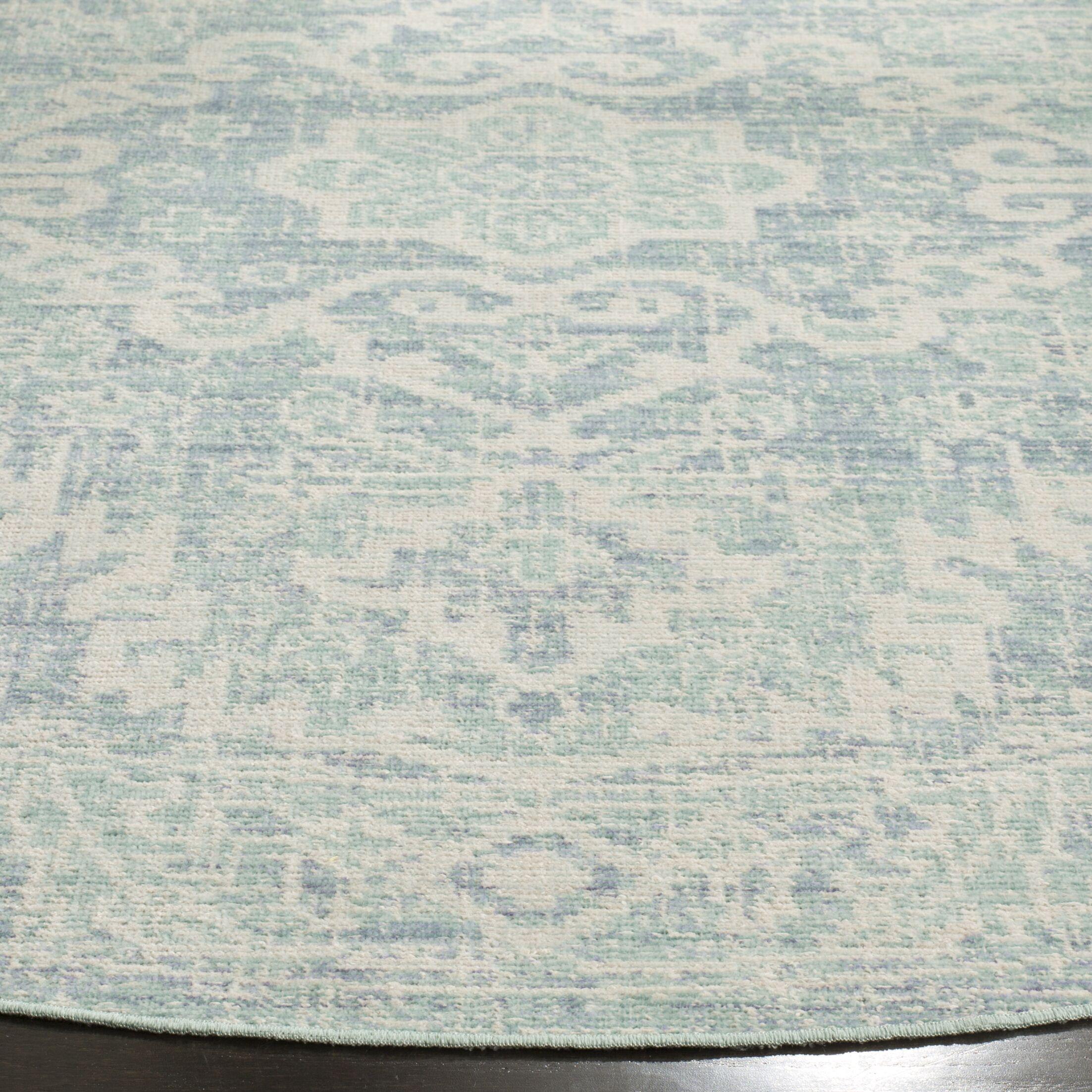 Chauncey Seafoam / Blue Area Rug Rug Size: Square 6'