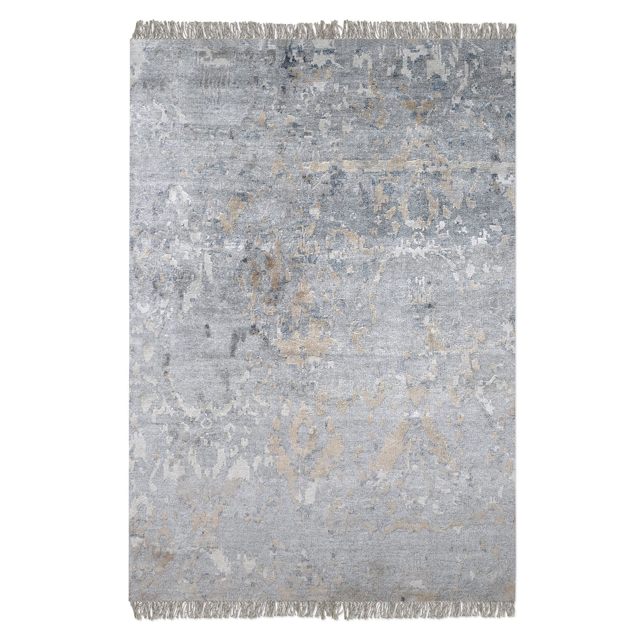 Cobbett Hand-Woven Gray Area Rug Rug Size: 5' x 8'