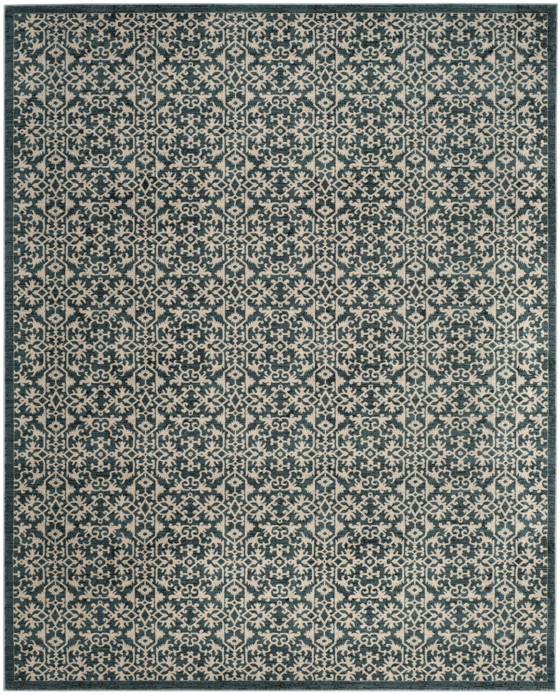 McClusky Turquoise/Cream Area Rug Rug Size: Rectangle 8' x 10'