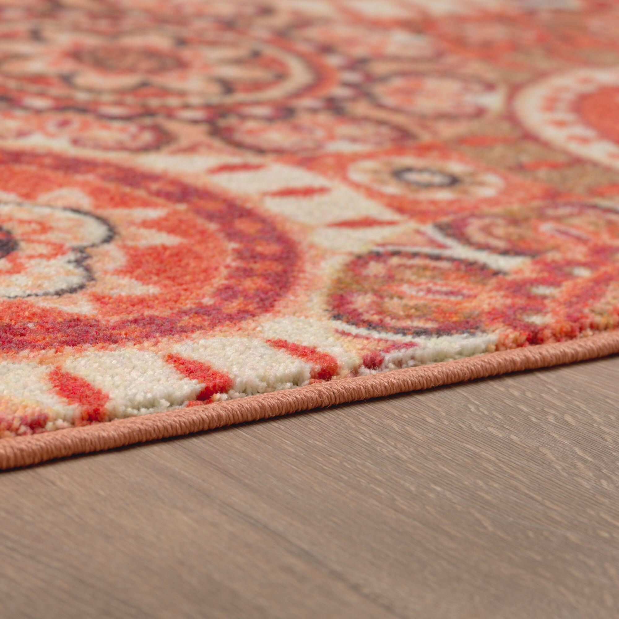 Amblewood Red/Rust Orange Area Rug Rug Size: Rectangle 8' x 10'