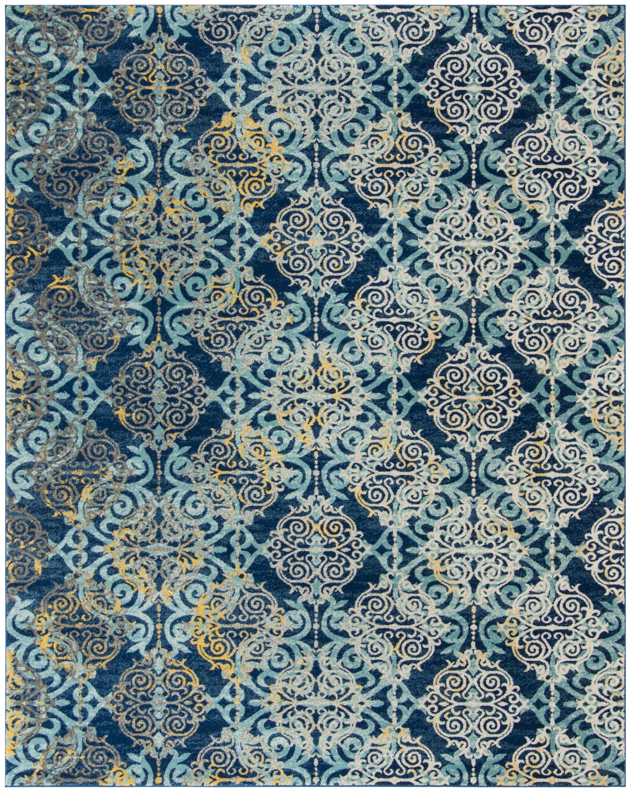 Ameesha Blue/Gray Area Rug Rug Size: Rectangle 9' x 12'