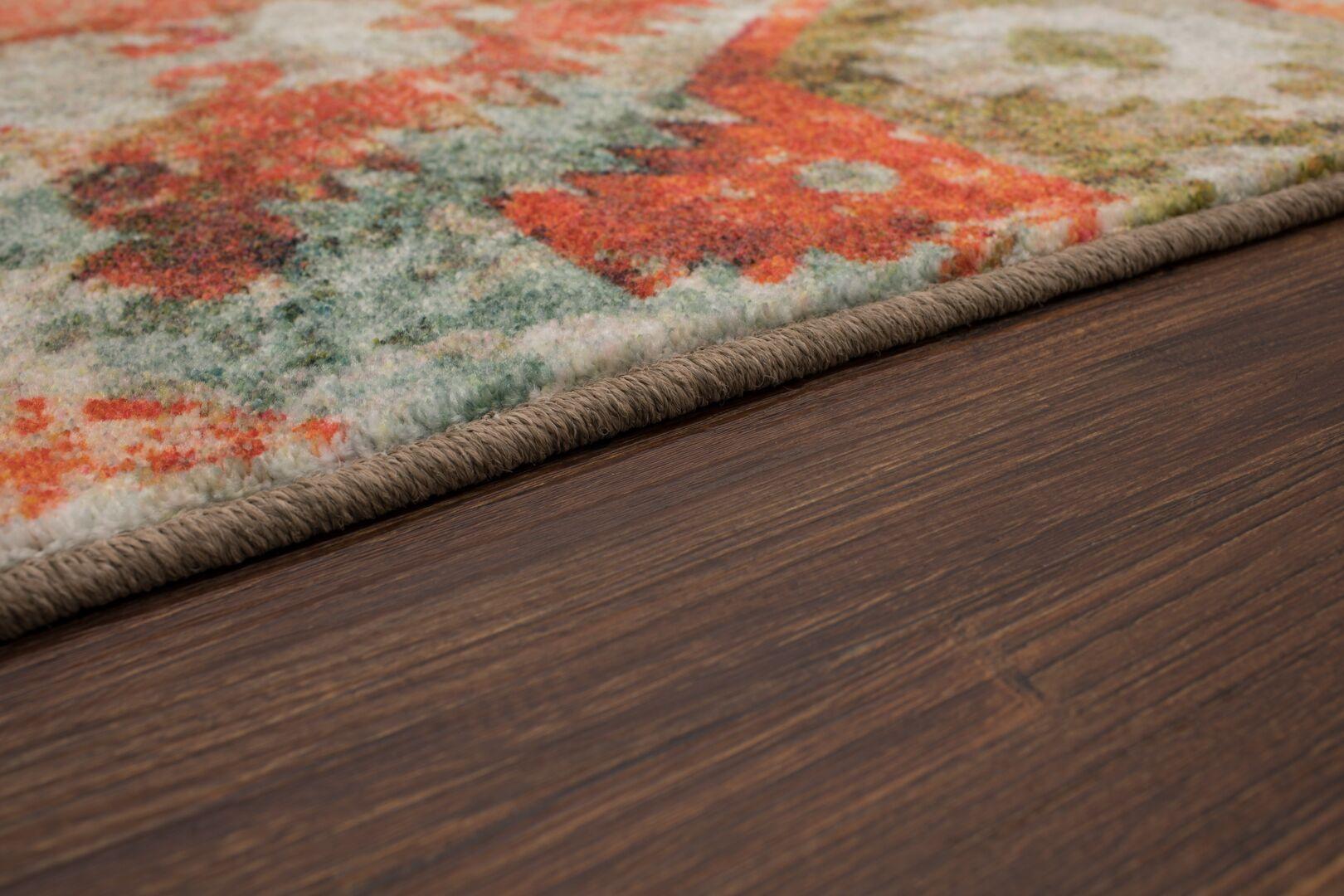 Barkhampstead Gray/Orange Area Rug Rug Size: Rectangle 5' x 8'