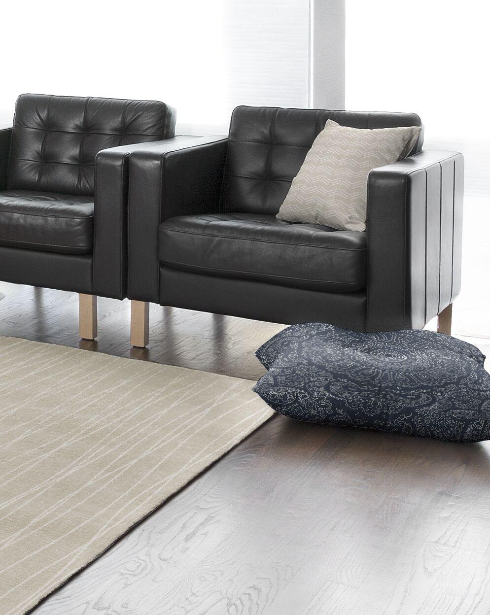 Kangana Double Sided Print Microfiber Floor Pillow Size: 26
