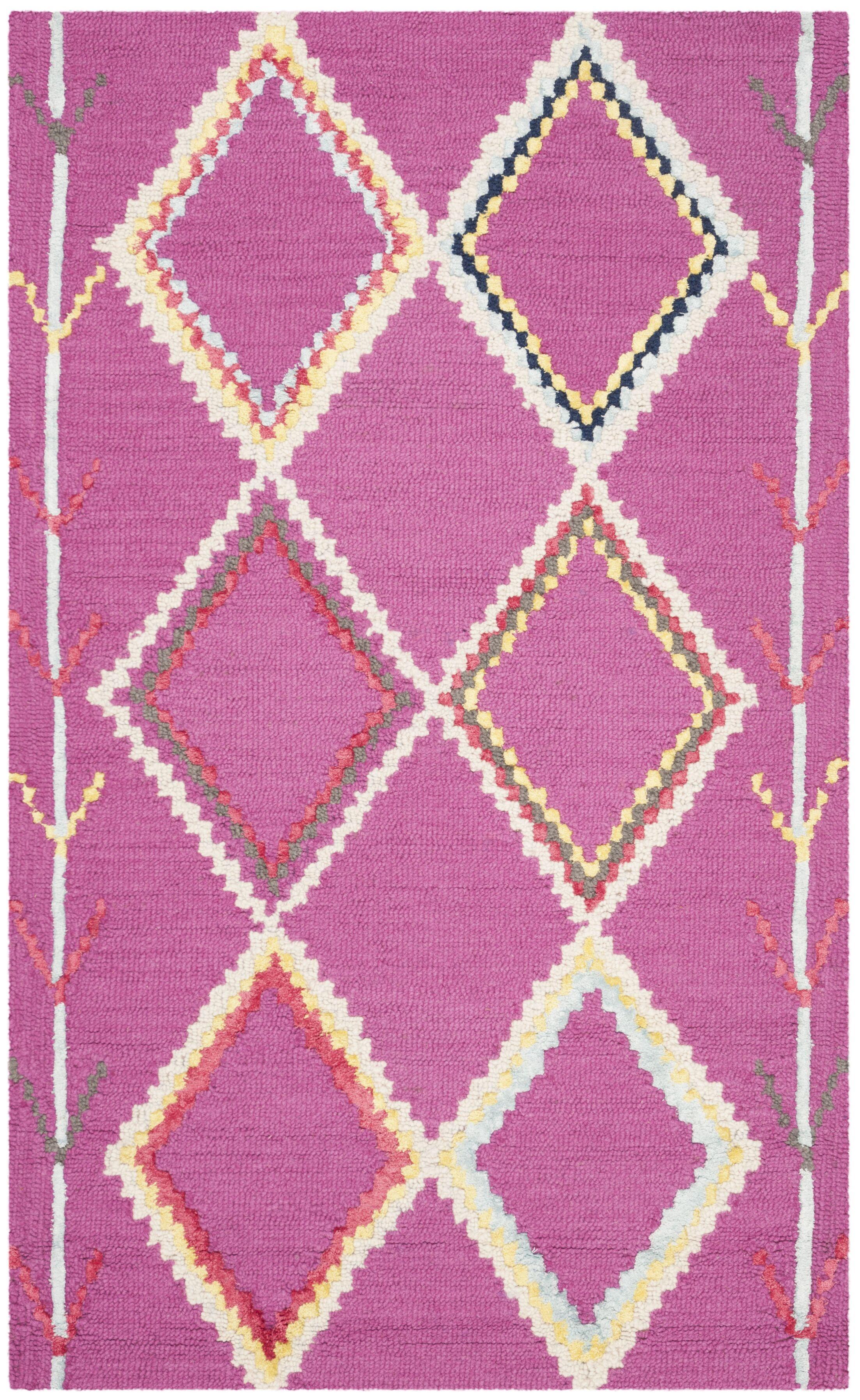 Carolwood Hand Tufted Wool Fuchsia Area Rug Rug Size: Rectangle 3' x 5'
