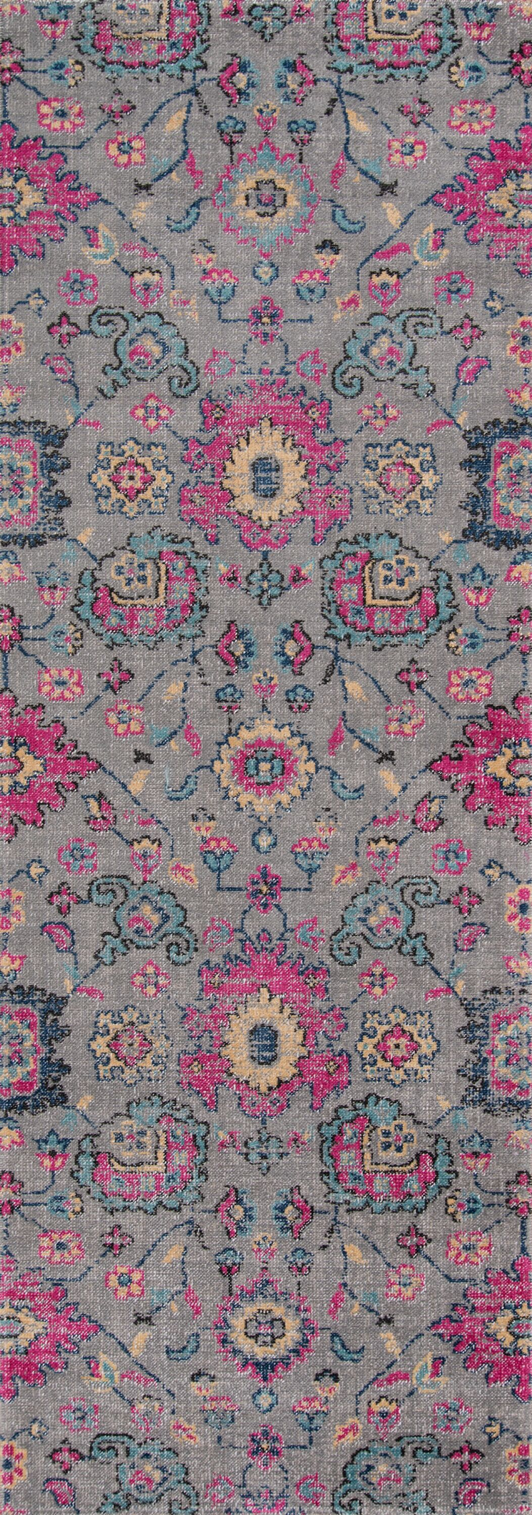 Thadine Gray Area Rug Rug Size: Runner 2'7