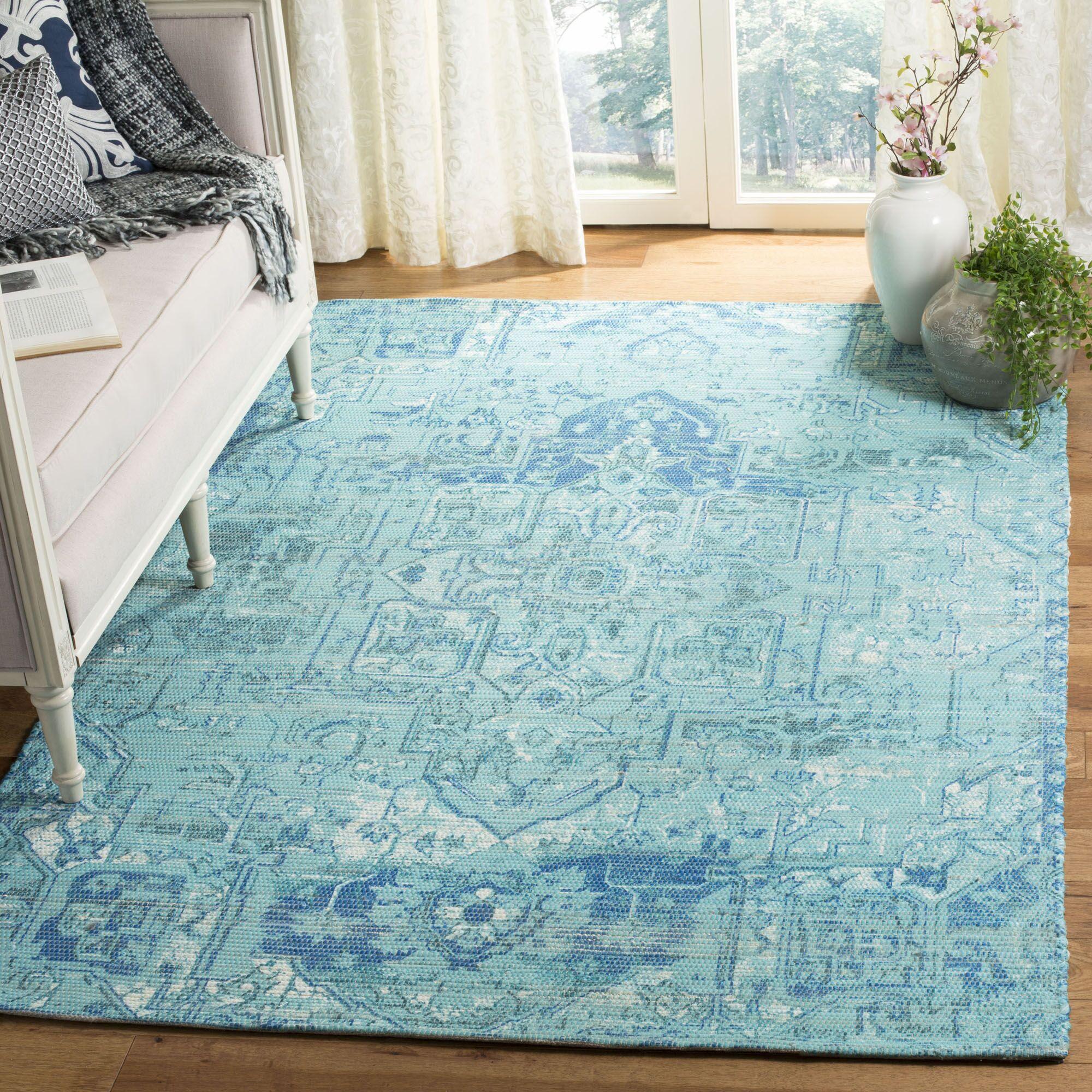 Cheng Hand Woven Aqua/Blue Area Rug Rug Size: Rectangle 8' x 10'