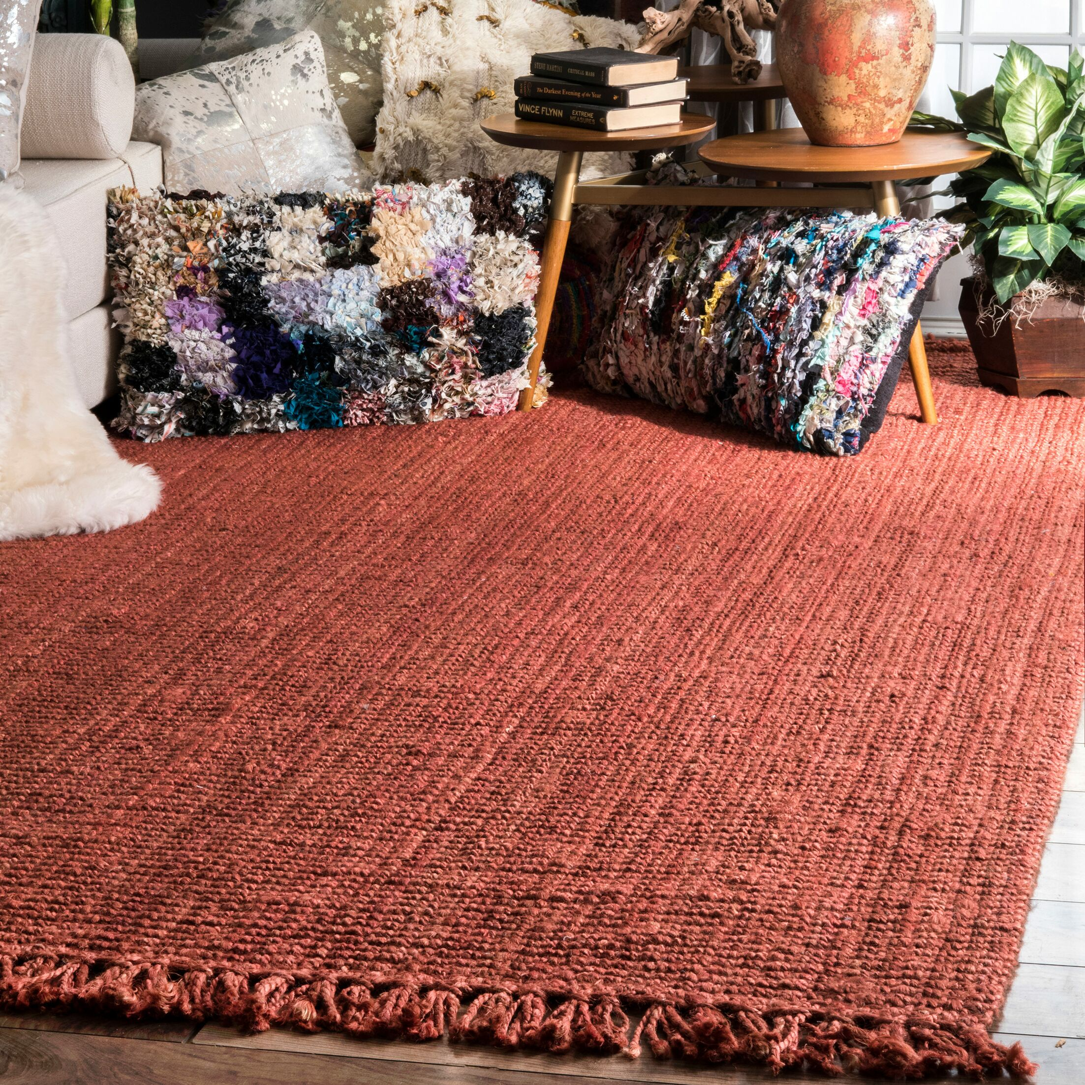 Caspian Hand-Woven Terra Area Rug Rug Size: Rectangle 8'6
