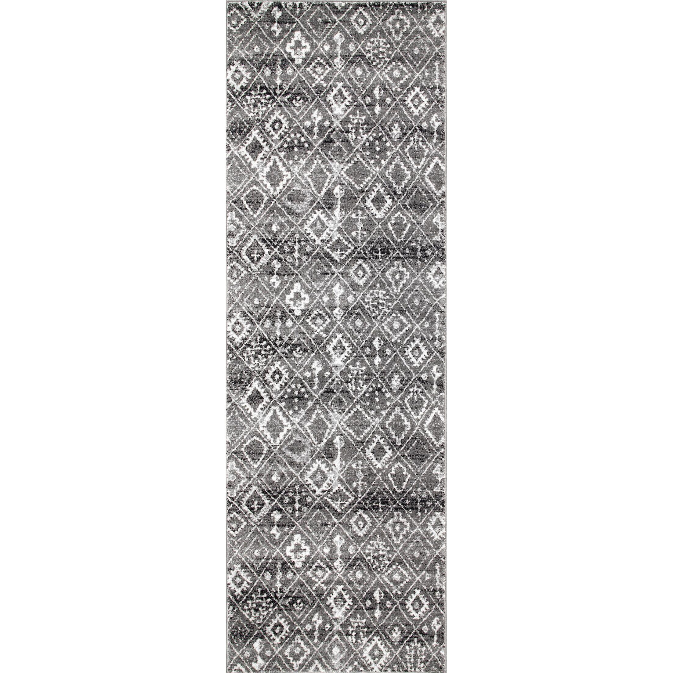 Cauley Dark Gray Area Rug Rug Size: Runner 2'8