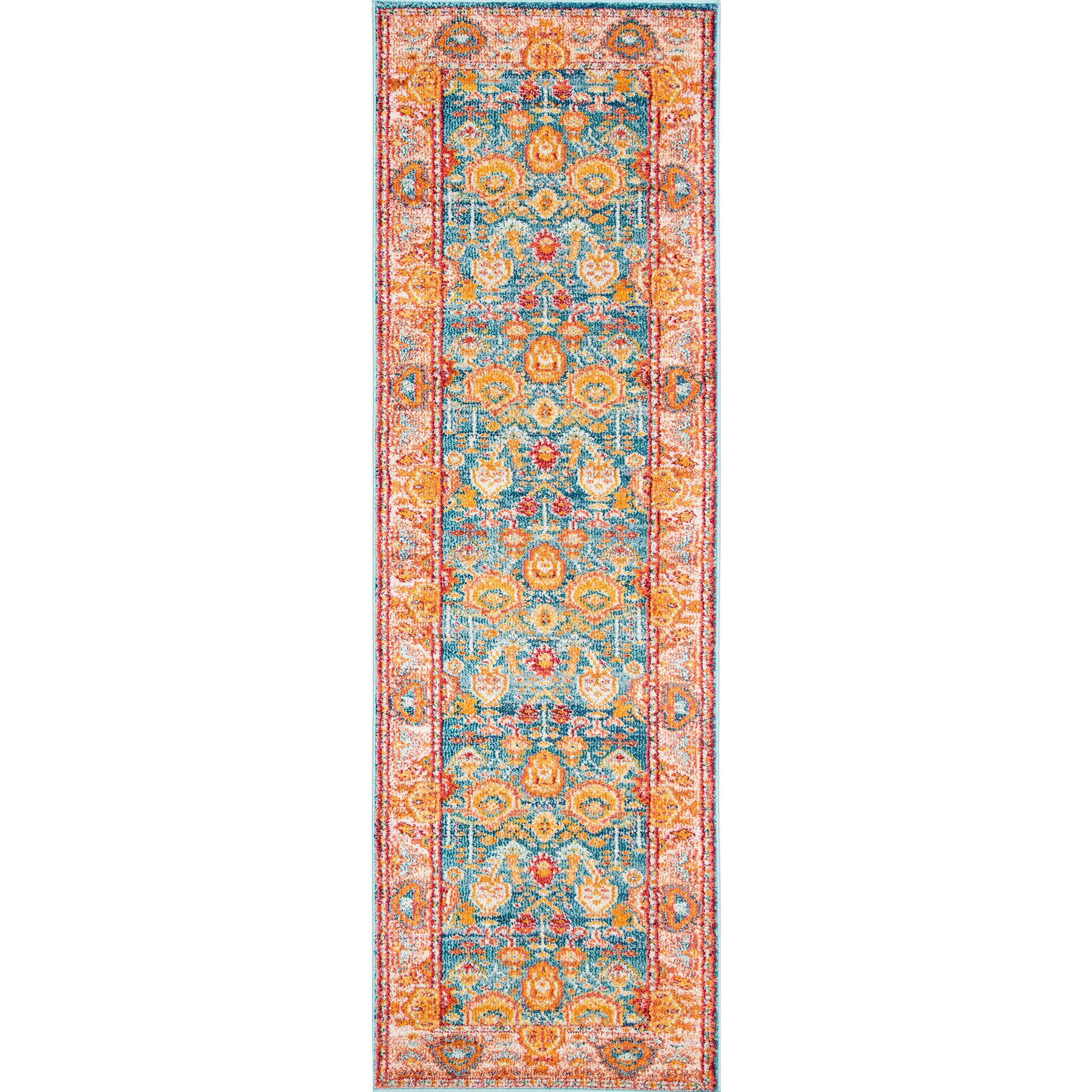 Chaidez Orange Area Rug Rug Size: Runner 2'6