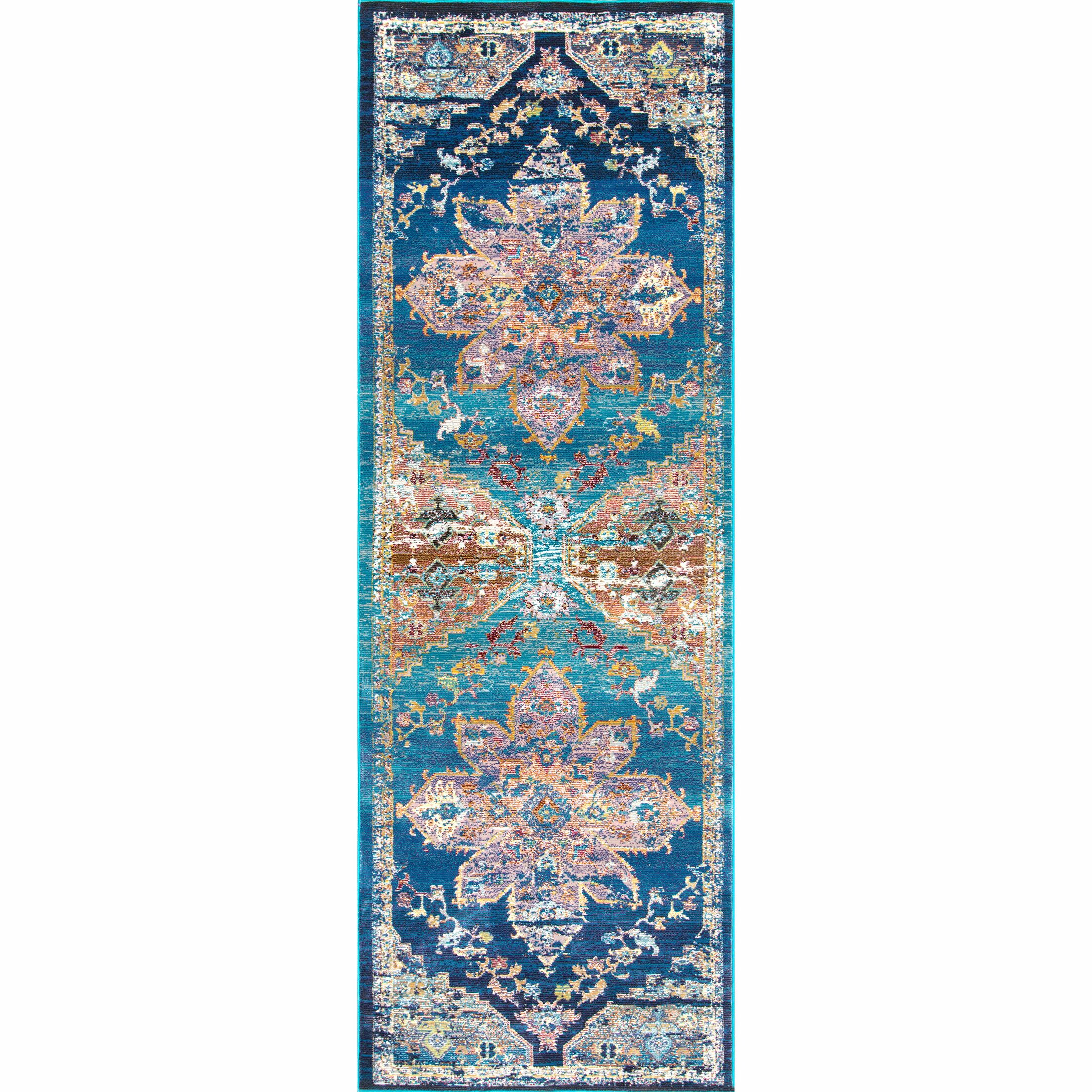 Chane Blue Area Rug Rug Size: Runner 2'8