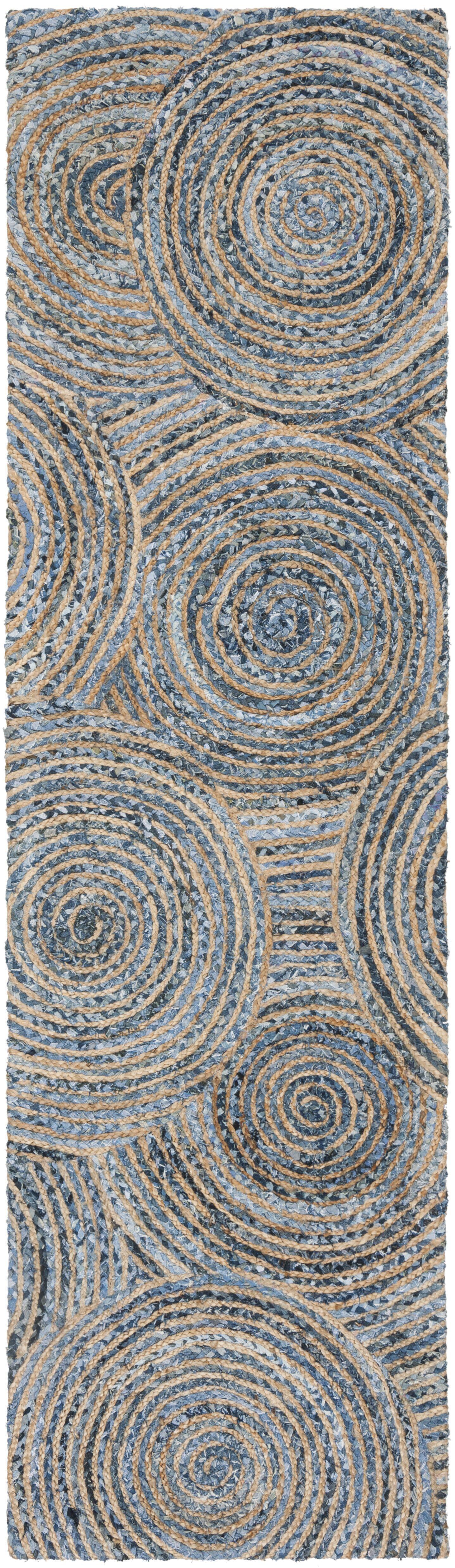 Abhay Hand Woven Gray/Blue Area Rug Rug Size: Runner 2'3