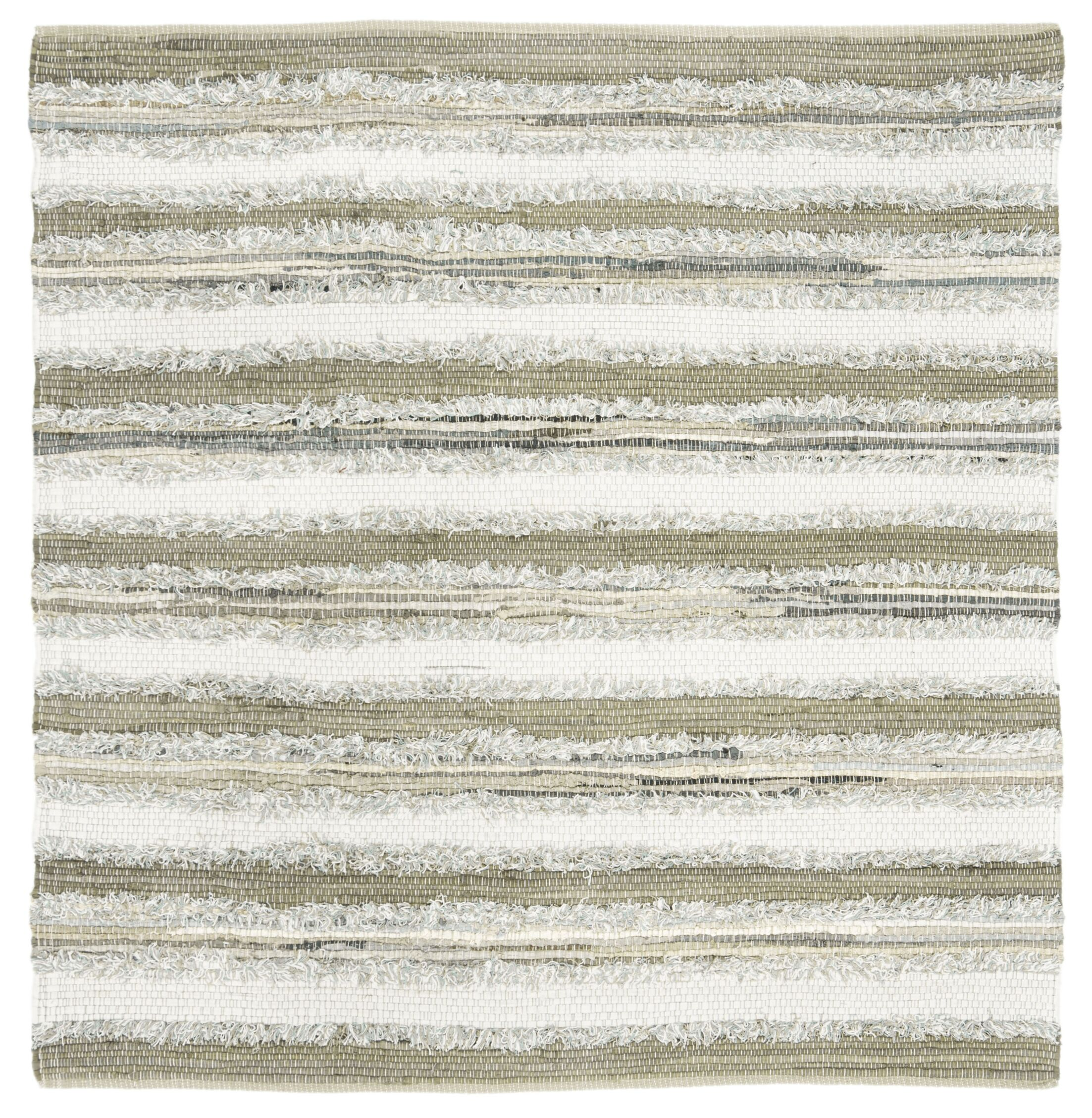 Bester Hand-Woven Cotton Beige Area Rug Rug Size: Square 6'