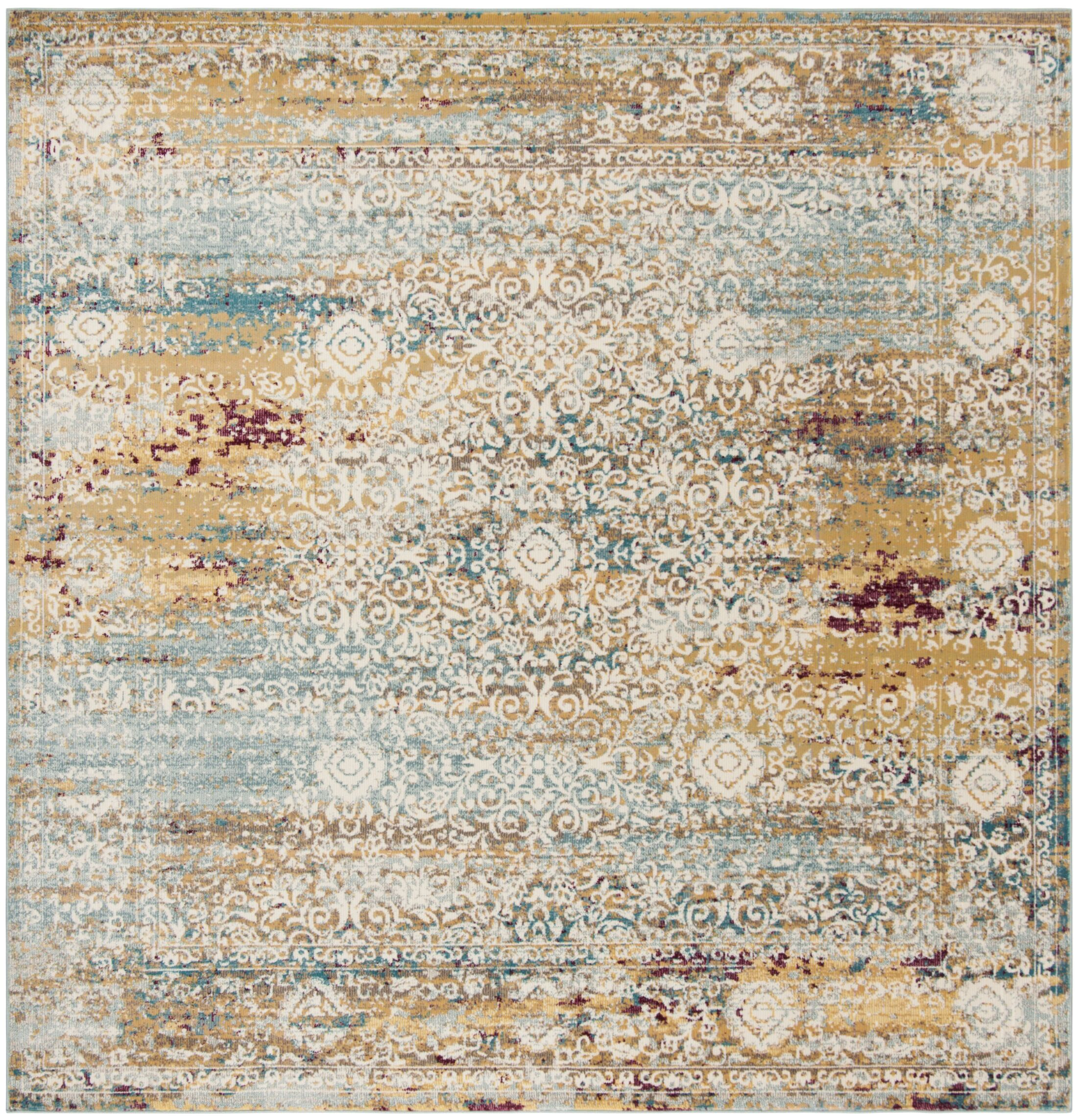 Monserrat Yellow Area Rug Rug Size: Square 6'5