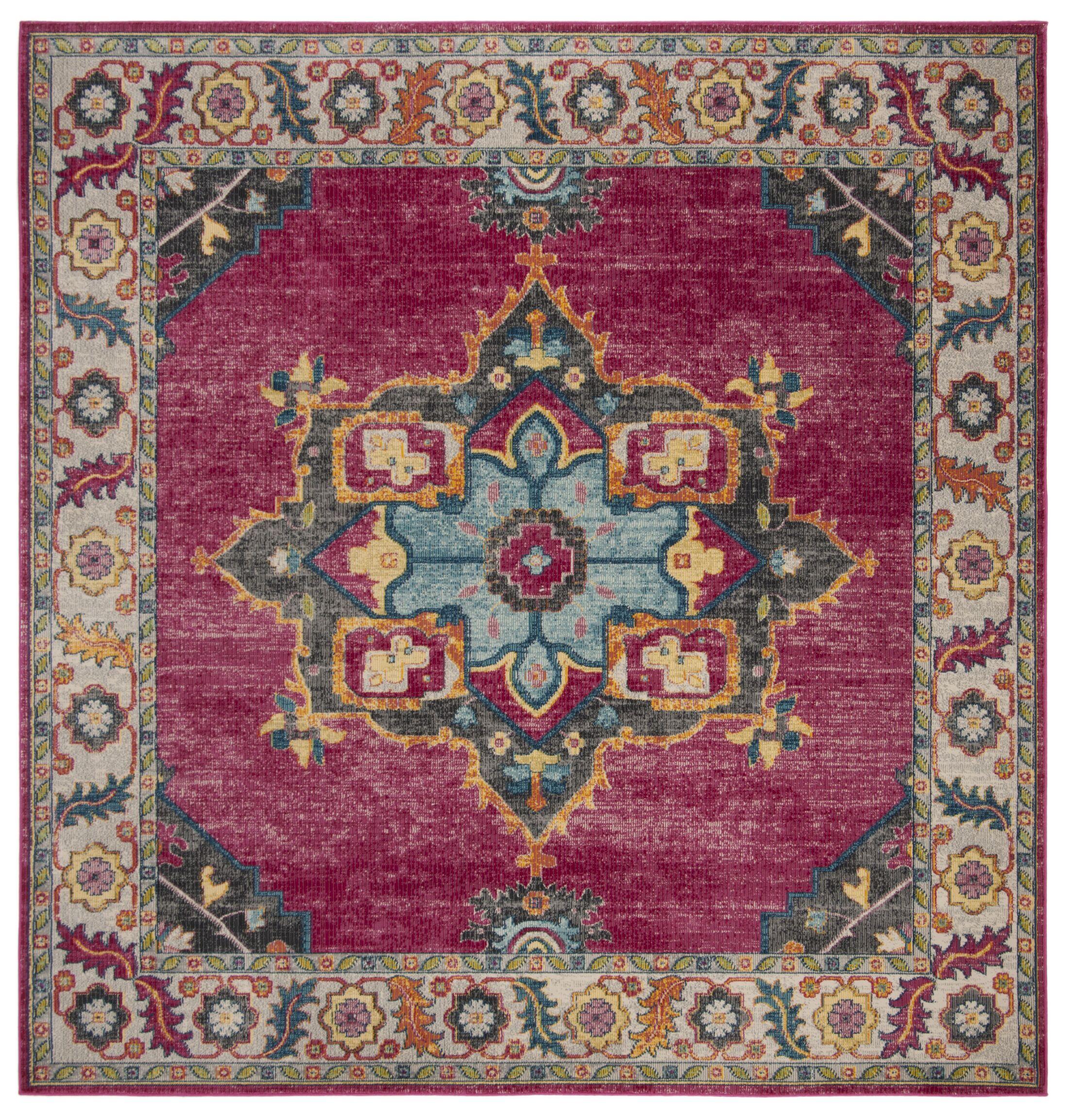 Doucet Pink/Blue Area Rug Rug Size: Square 6'7