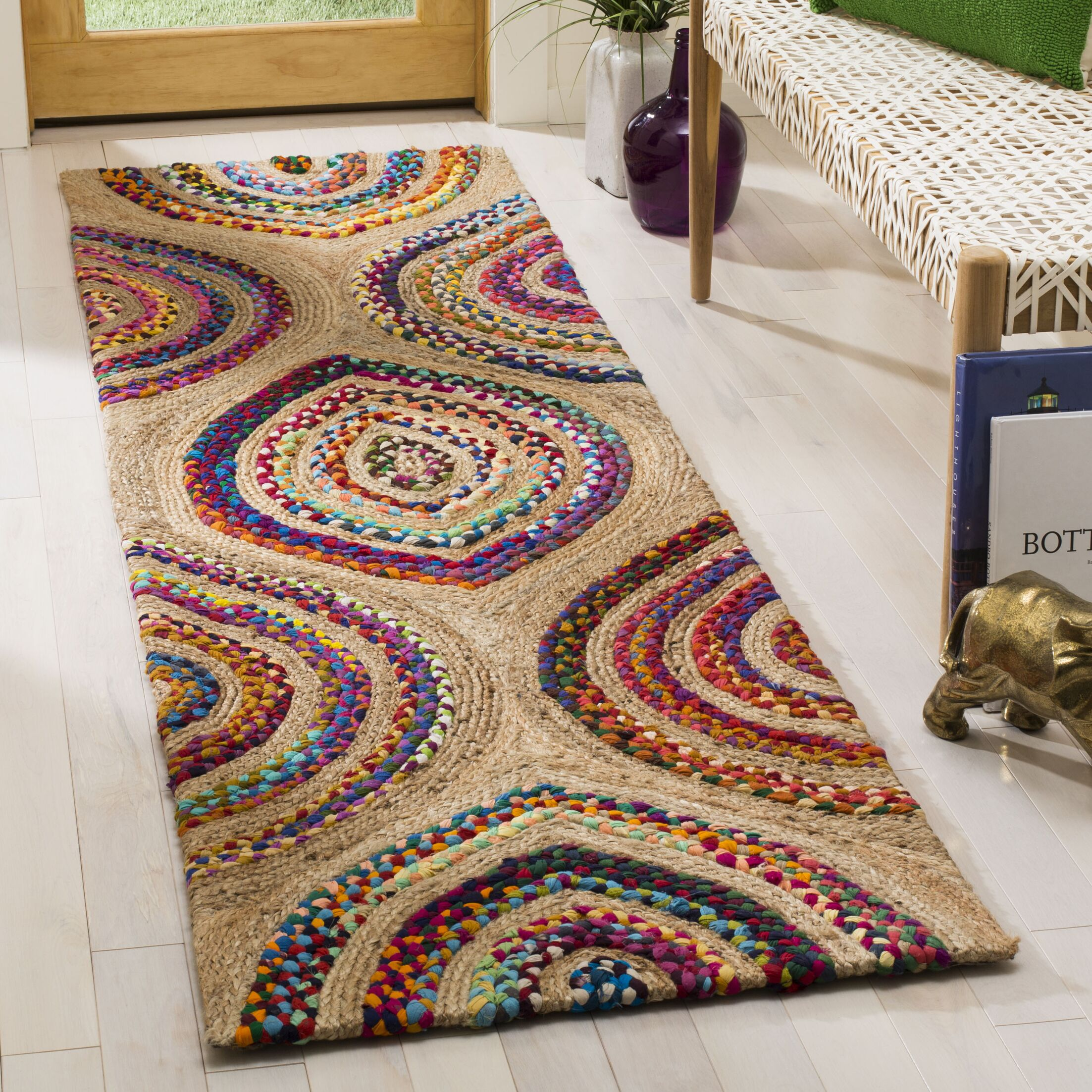 Abhay Hand Knotted Beige Area Rug Rug Size: Runner 2'3