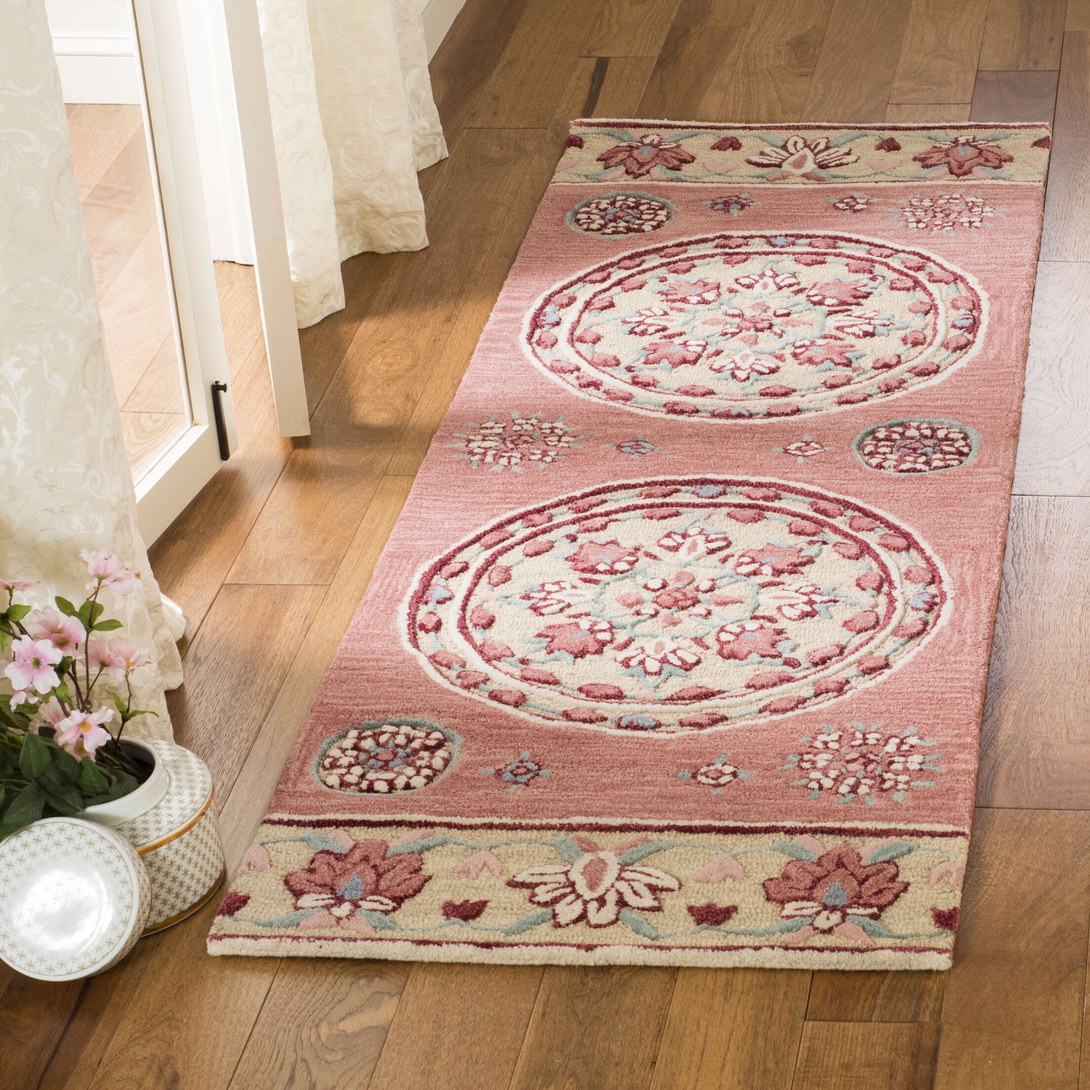 Eatonville Hand Tufted Wool Red Area Rug Rug Size: Runner 2'3