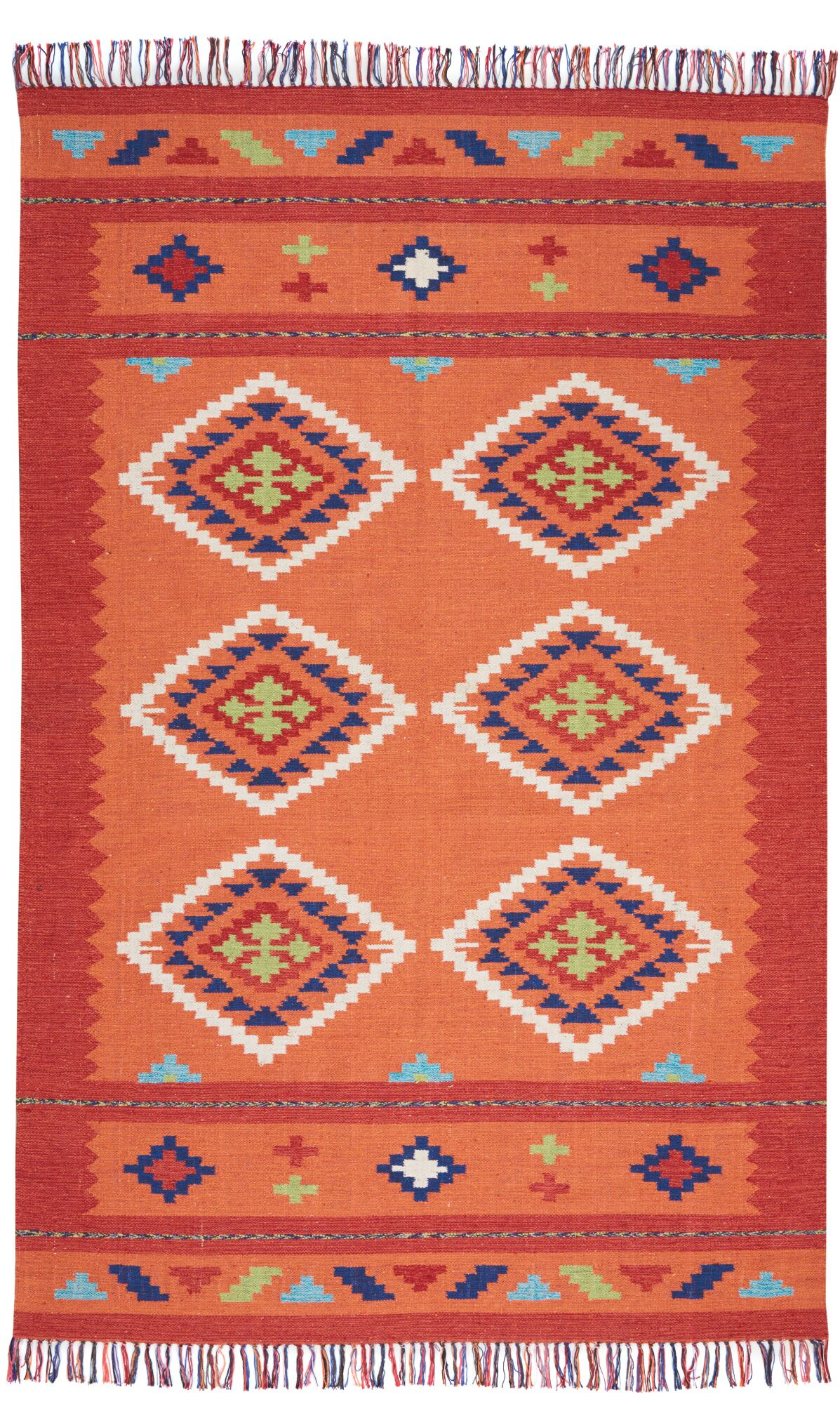 Rocky Hand Woven Orange/Red Area Rug Rug Size: Rectangle 5' x 7'
