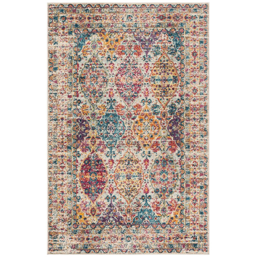 Doucet Pink/Cream Area Rug Rug Size: Rectangle 4' x 6'