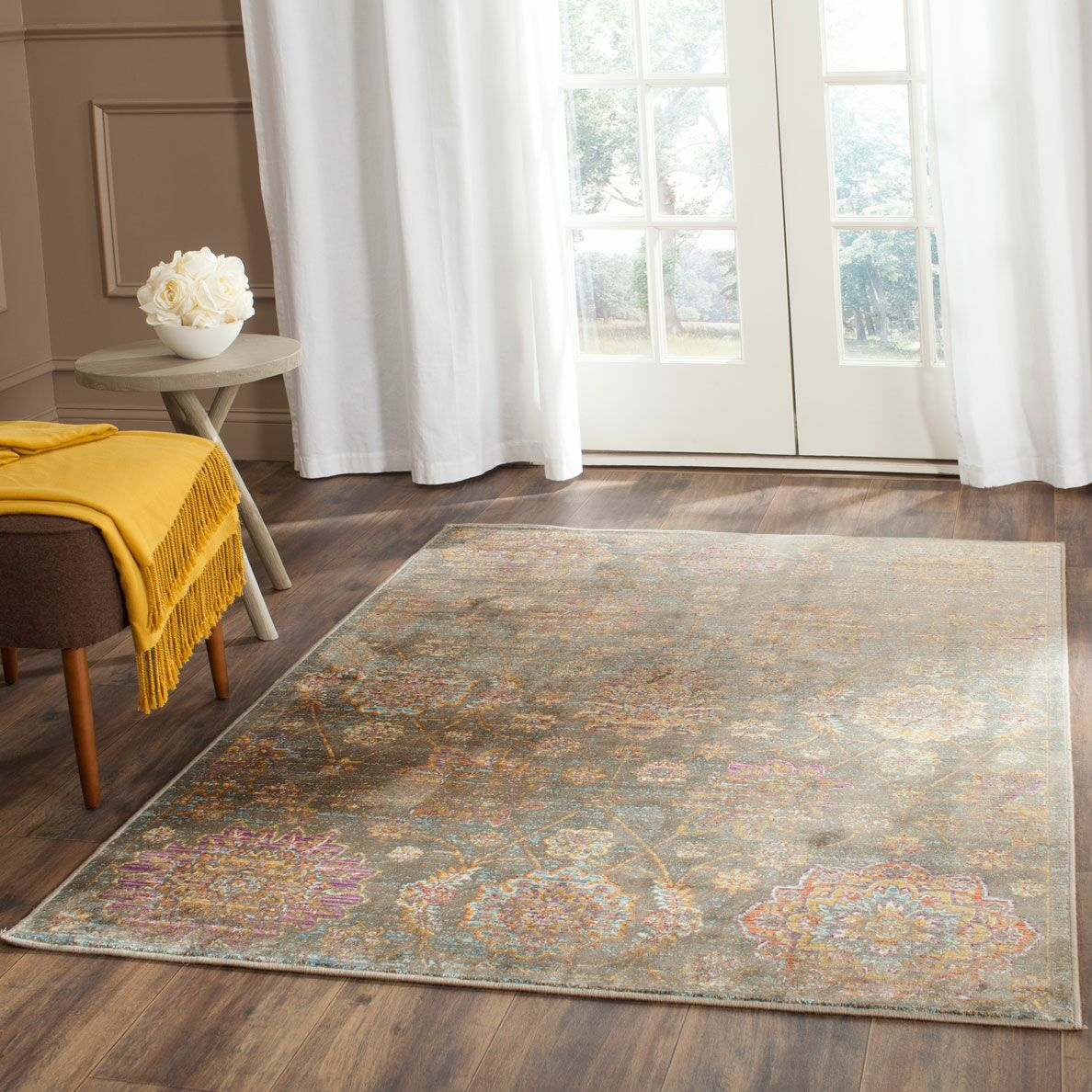 Beausejour Gray Area Rug Rug Size: Rectangle 5'3