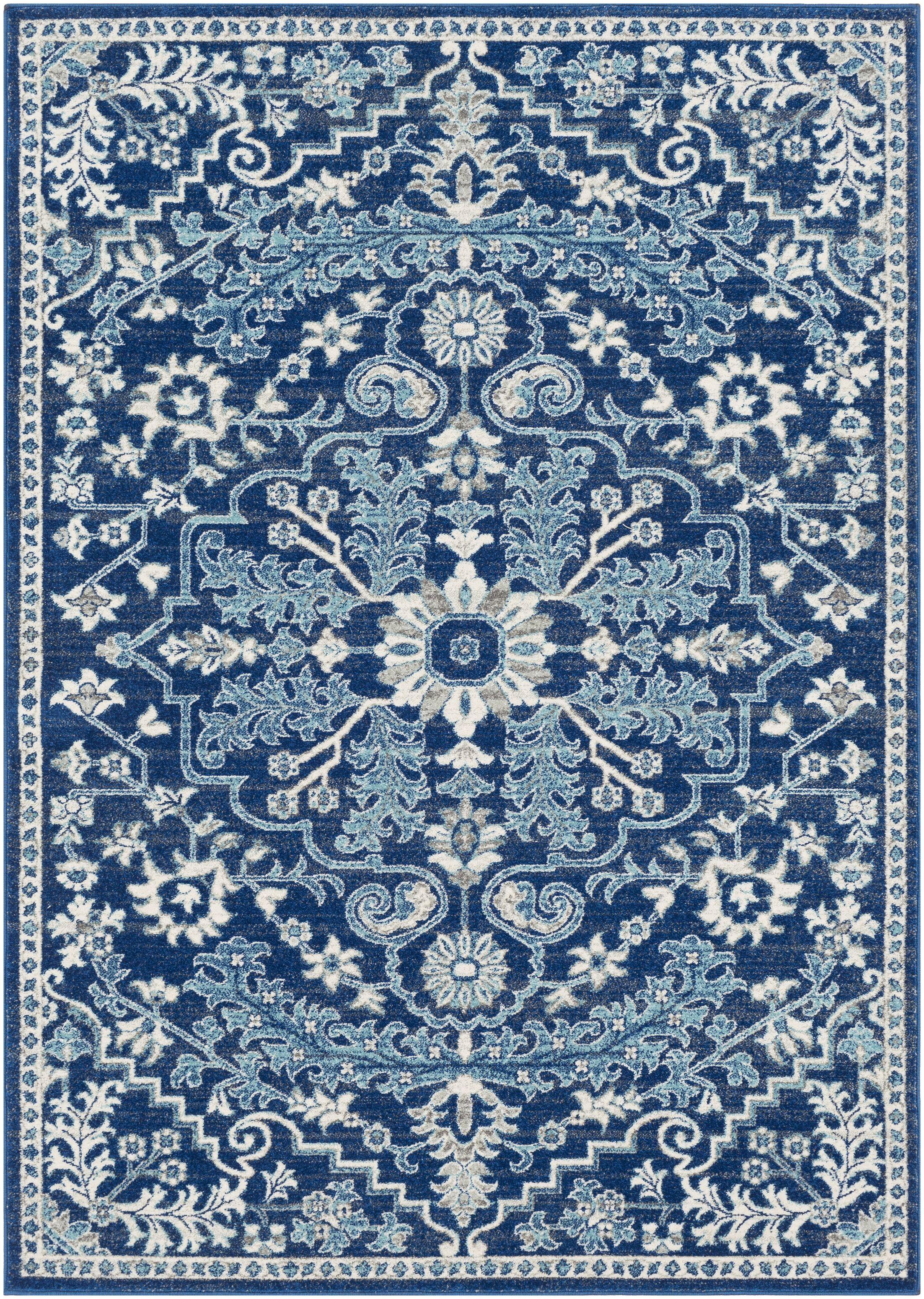 Hillsby Vintage Dark blue Area Rug Rug Size: Rectangle 7'10